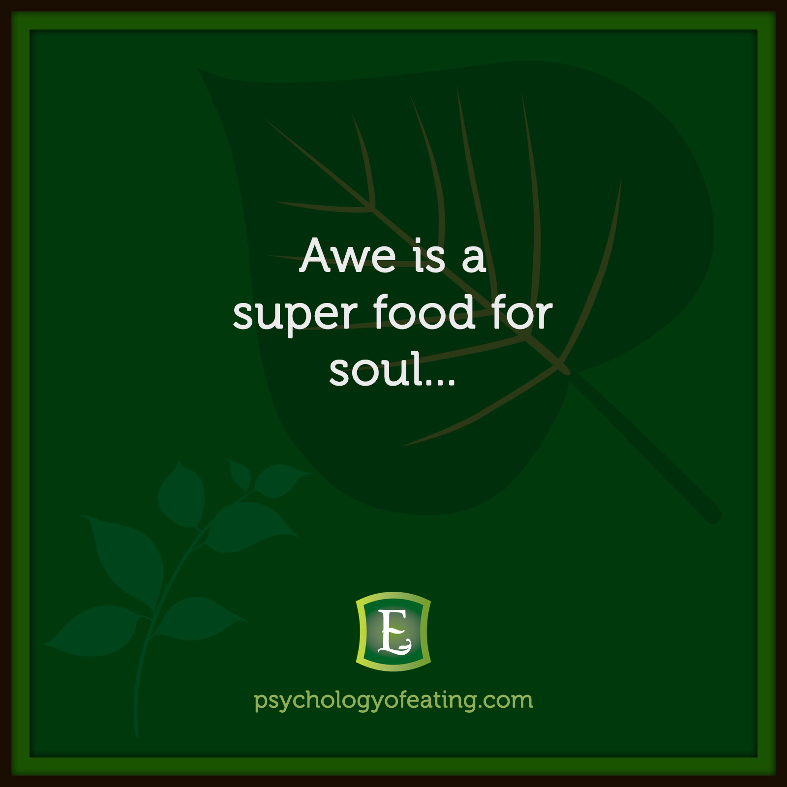 Awe is a super food for soul…   #health #nutrition #eatingpsychology #IPE