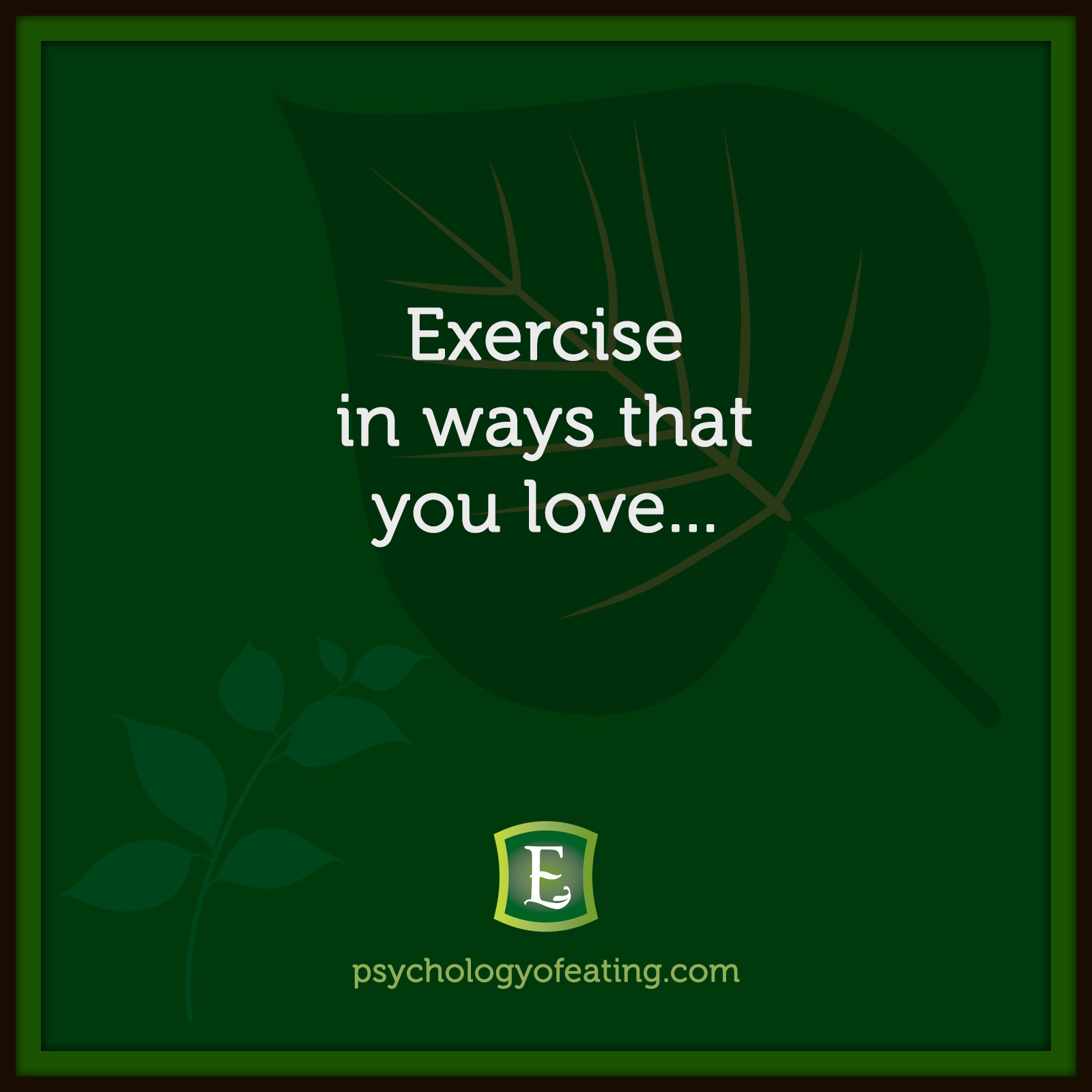 Exercise in ways that you love… #health #nutrition #eatingpsychology #IPE