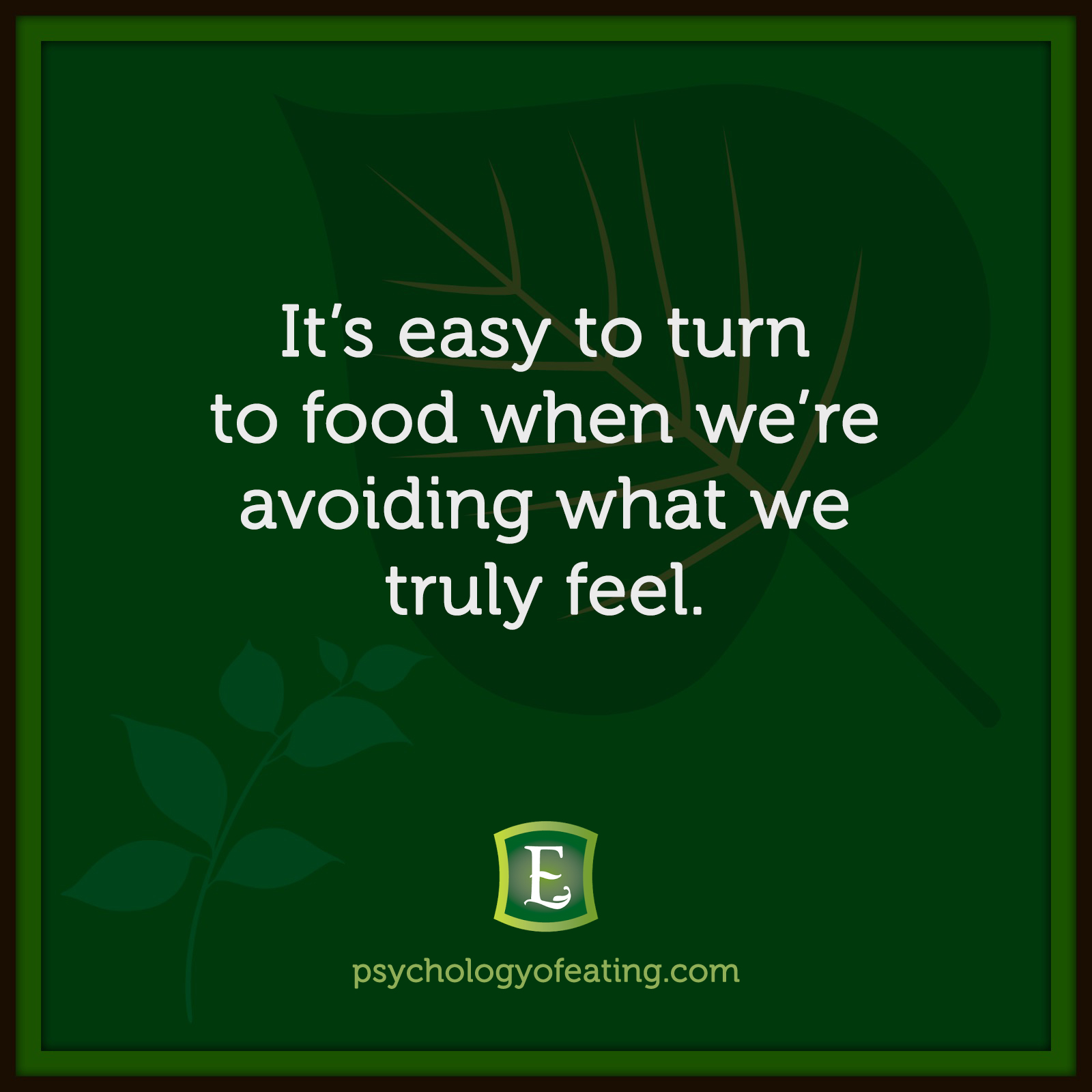 It's easy to turn to food when we're avoiding what we truly feel.  #health #nutrition #eatingpsychology #IPE