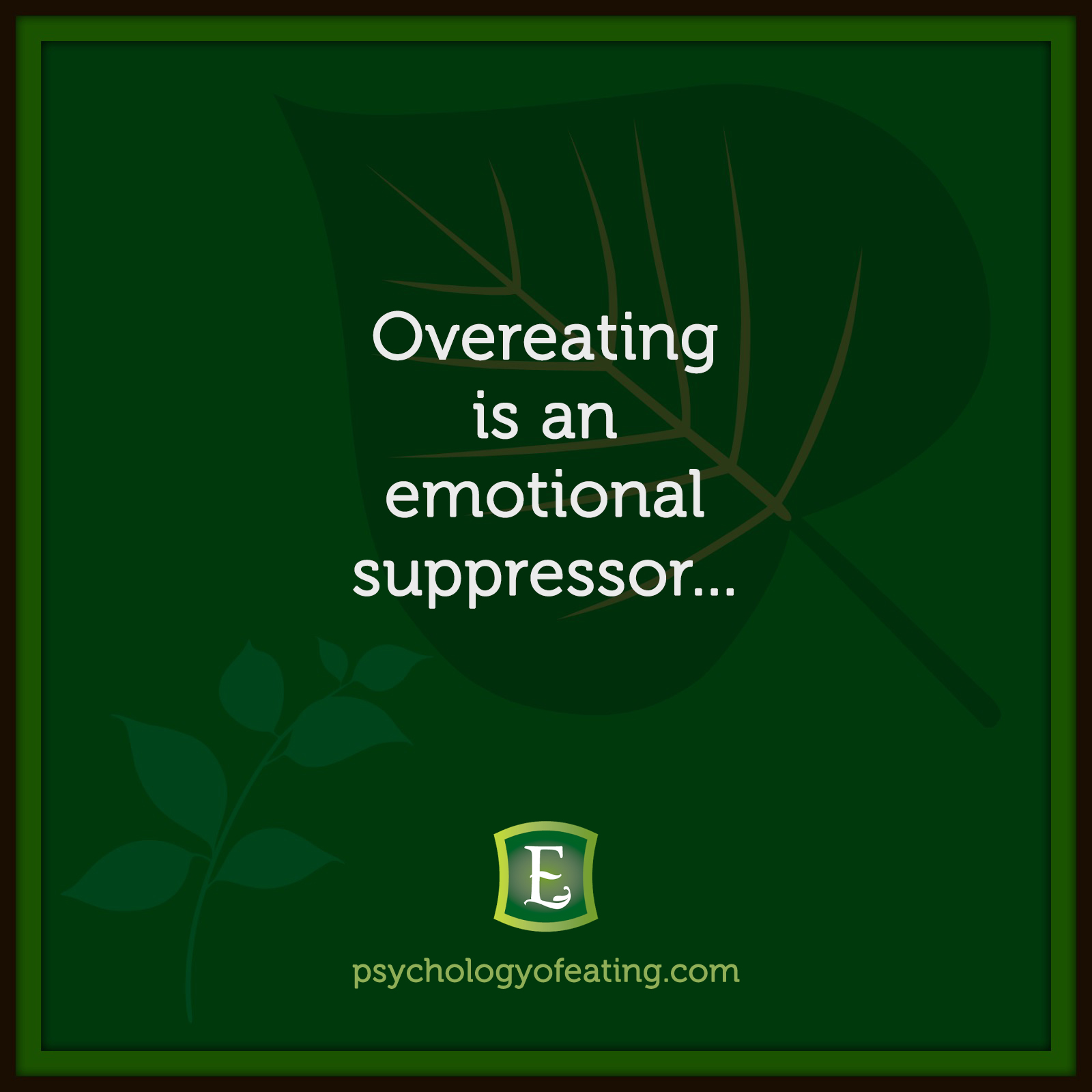 Overeating is an emotional suppressor… #health #nutrition #eatingpsychology #IPE