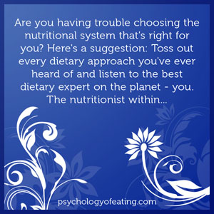 Are you having trouble choosing the nutritional system that's right for you #health #nutrition #eatingpsychology #IPE