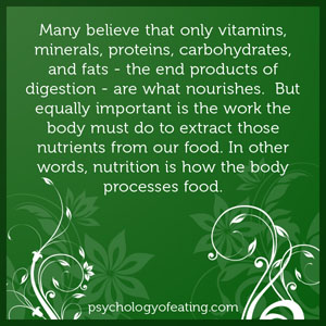 Many believe that only vitamins, minerals, proteins, carbohydrates, and fats #health #nutrition #eatingpsychology #IPE