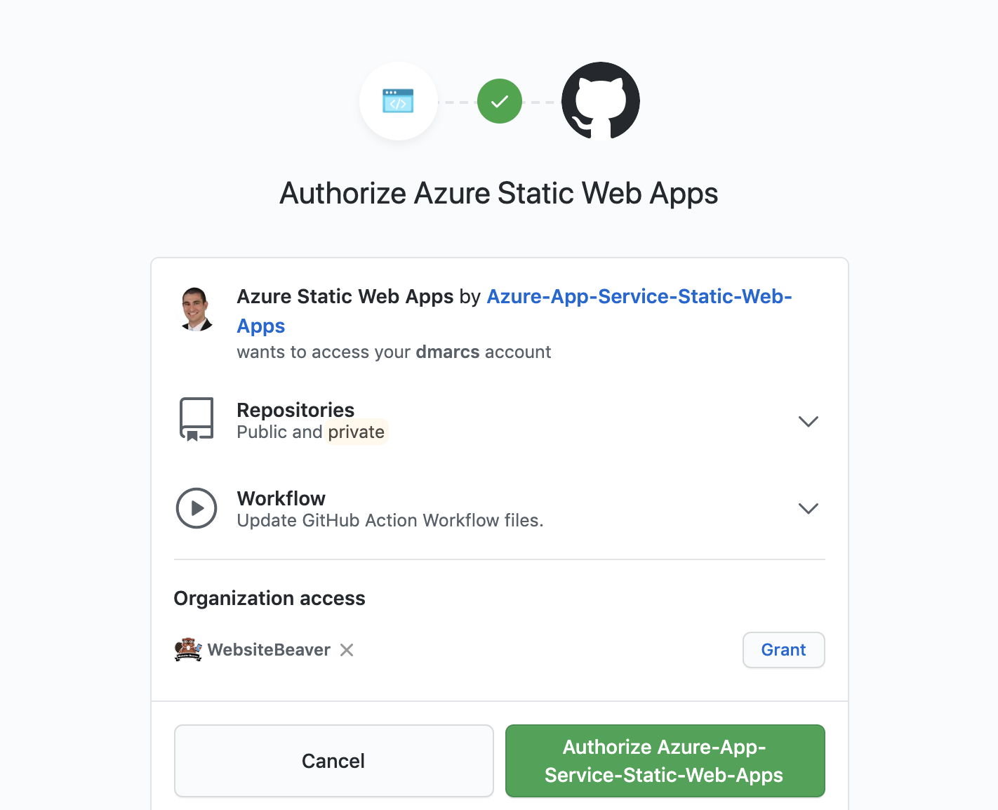 Authorize Azure Static Web Apps