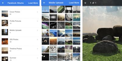 Facebook API JavaScript SDK get all Albums and Photos