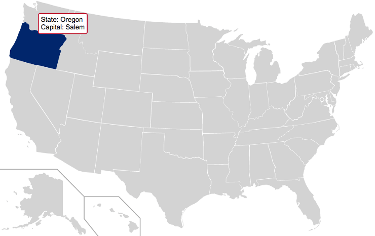 How To Make An Interactive And Responsive SVG Map Of US States - Map of usa with states named