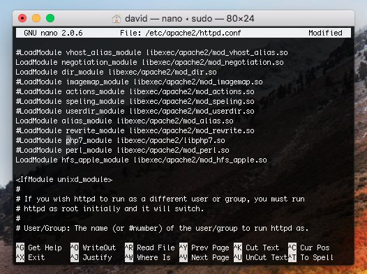 Set up localhost on macOS High Sierra (Apache, MySQL, and
