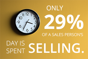 29% of a sales person's time is actually devoted to core selling activities
