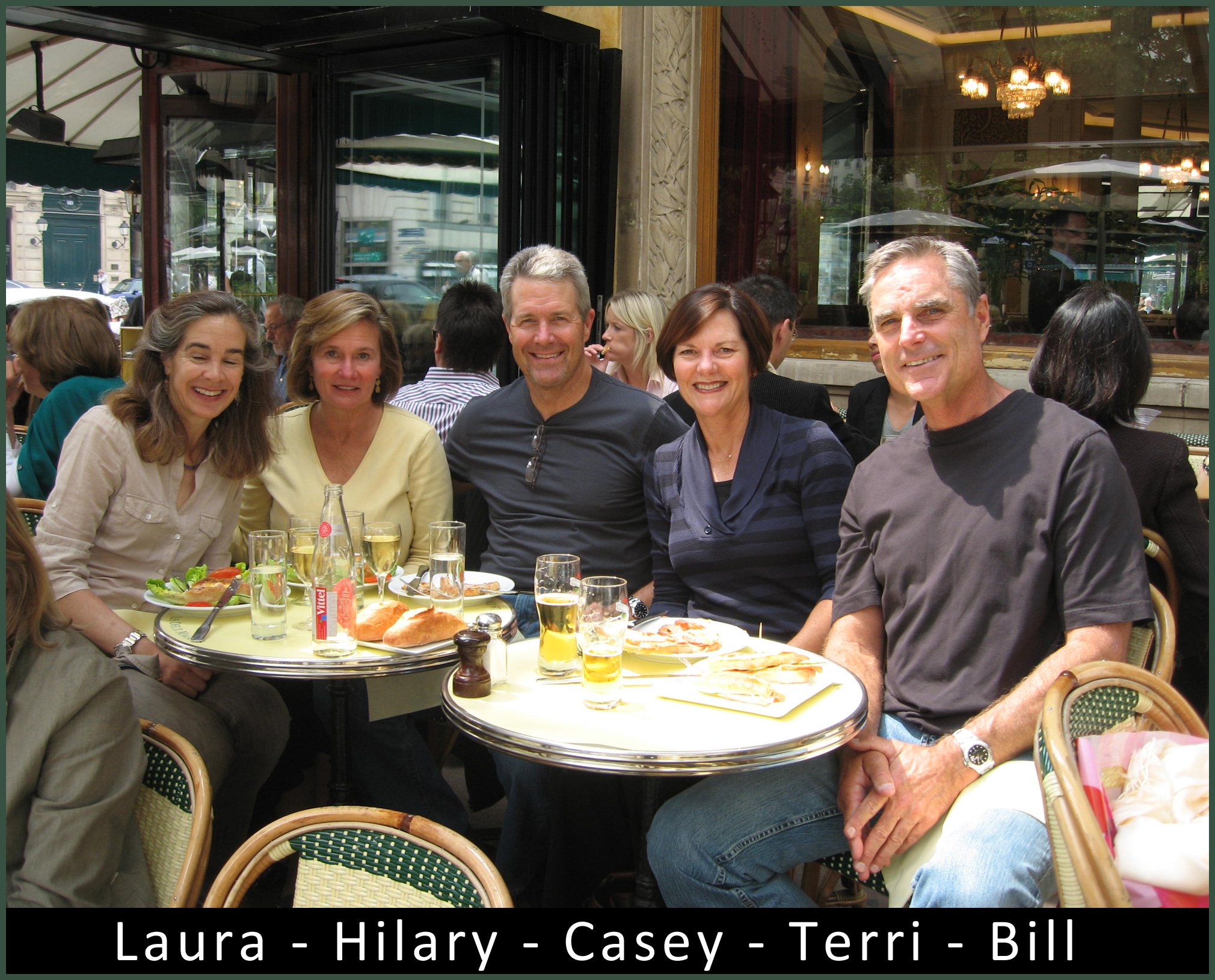 Laura Hilary Casey Terry and Bill at Les Deux Magots