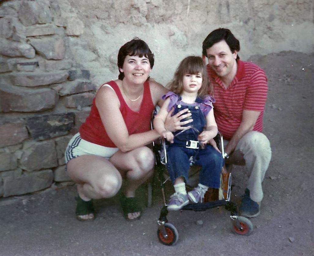 2.Donna, Jeff, Julie- photo taken March 24, 1984—Julie died the next day.