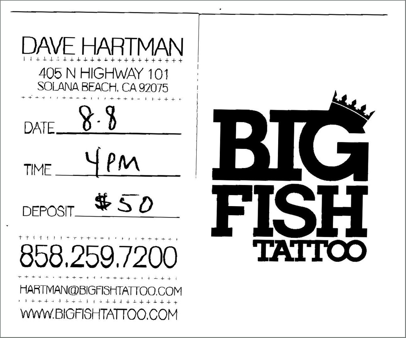 Big Fish Tattoo - Dave Hartman