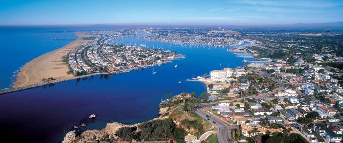 Newport Beach from the air