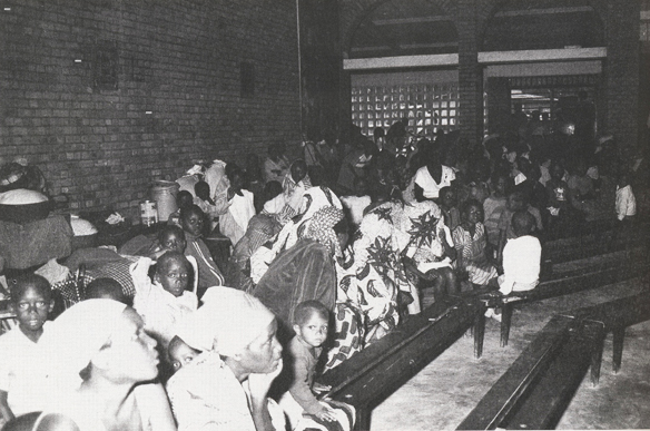 Nyamata Church Service in 1992