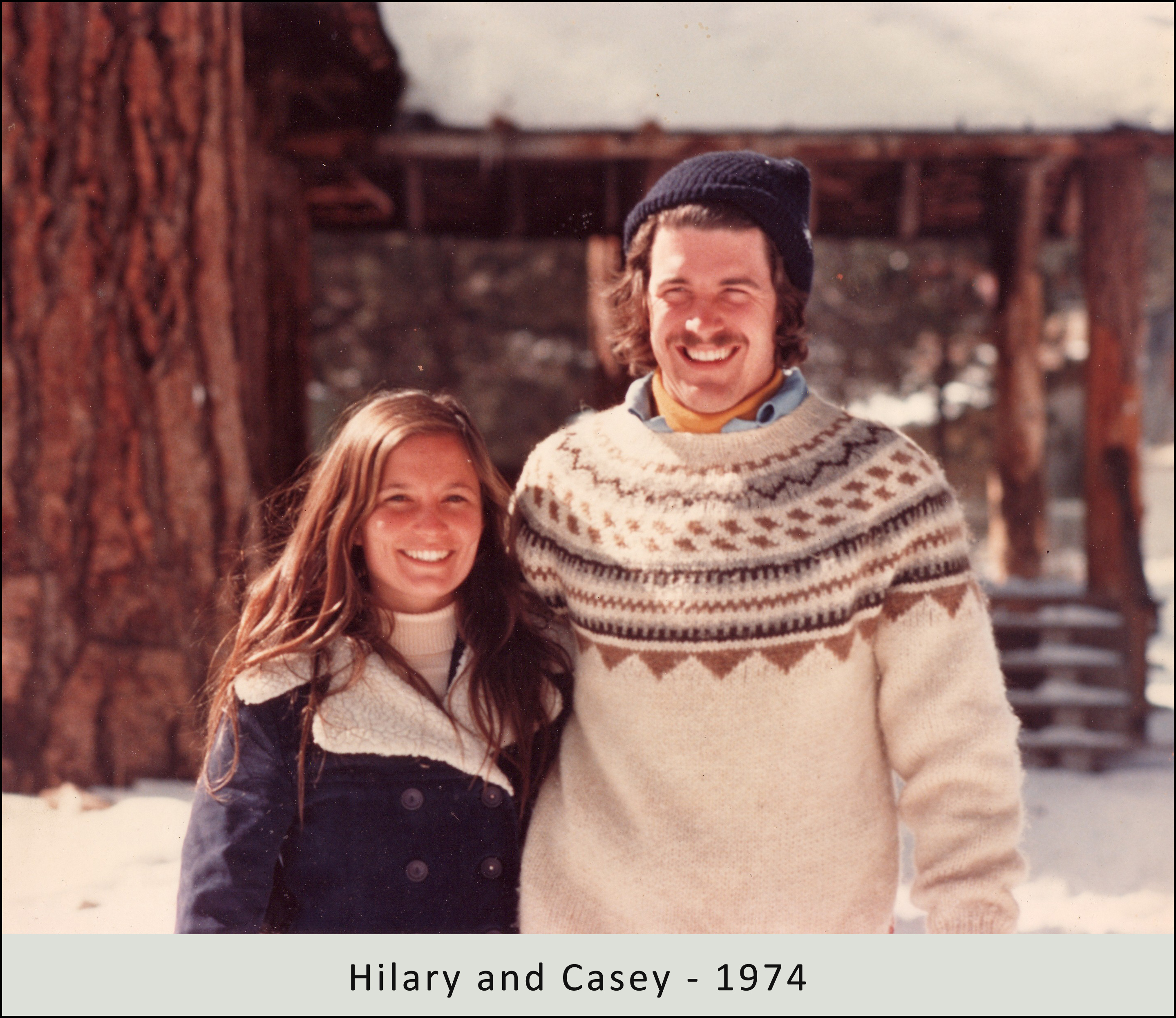 Hilary and Casey in 1974