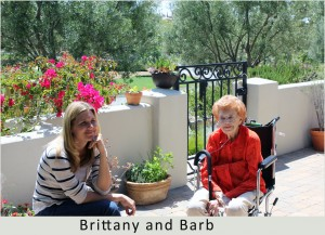 Granddaughter Brittany Kirby with her grandmother Barbara Gauntt