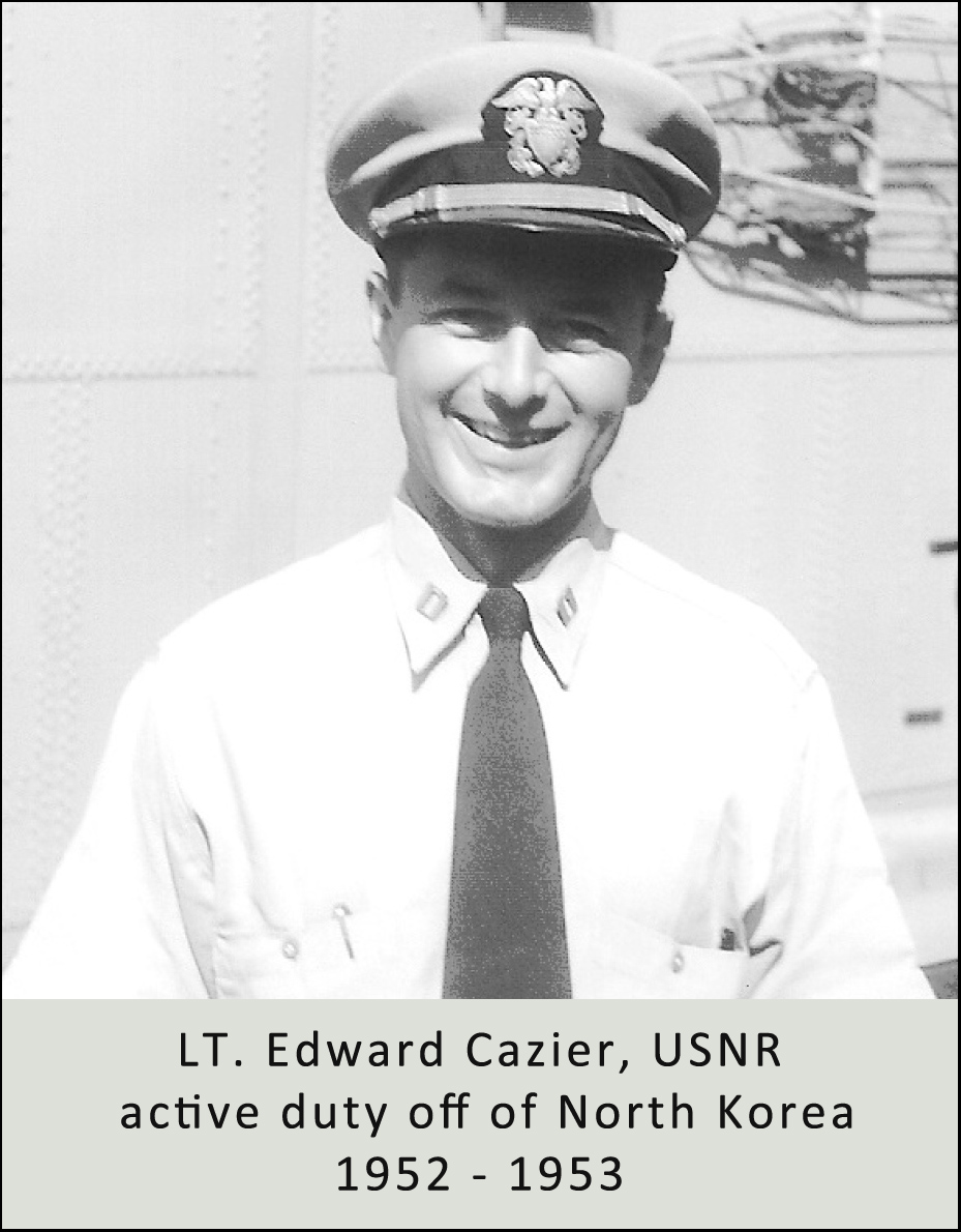 LT. Edward Cazier was already an attorney when he deployed to North Korea between 1952 and 1953.