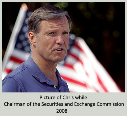 Picture of Chris while Chairman of the Securities and Exchange Commission