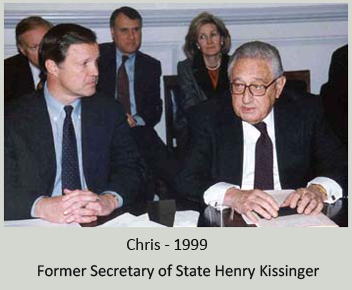 Meeting with Former Secretary of State Henry Kissinger - Senators Jon Kyl (R-AZ) and Kay Bailey Hutchison (R-TX) are in the background. (Photo taken at Policy Committee meeting in the Capitol, March 19, 1999)