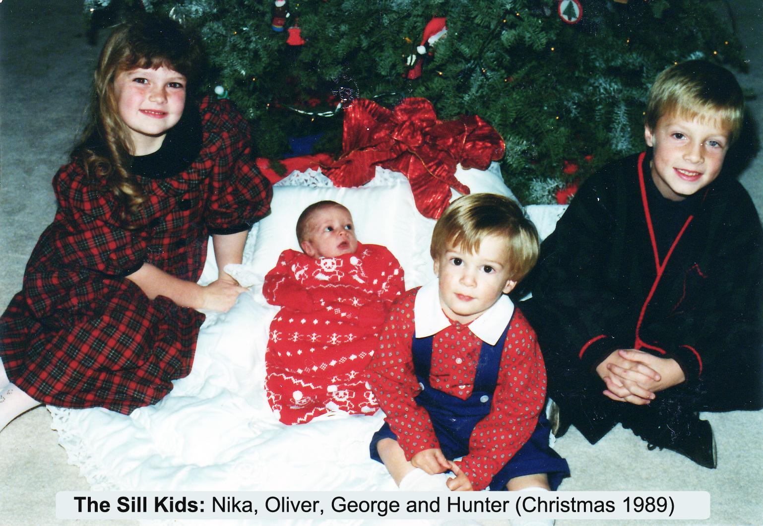Christmas 1989 Nika, Oliver George and Hunter