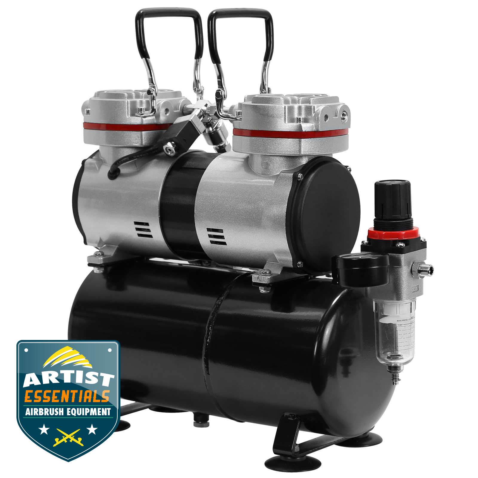 1//3 HP Twin Piston Airbrush Compressor Professional Tankless Oil-less Air Pump