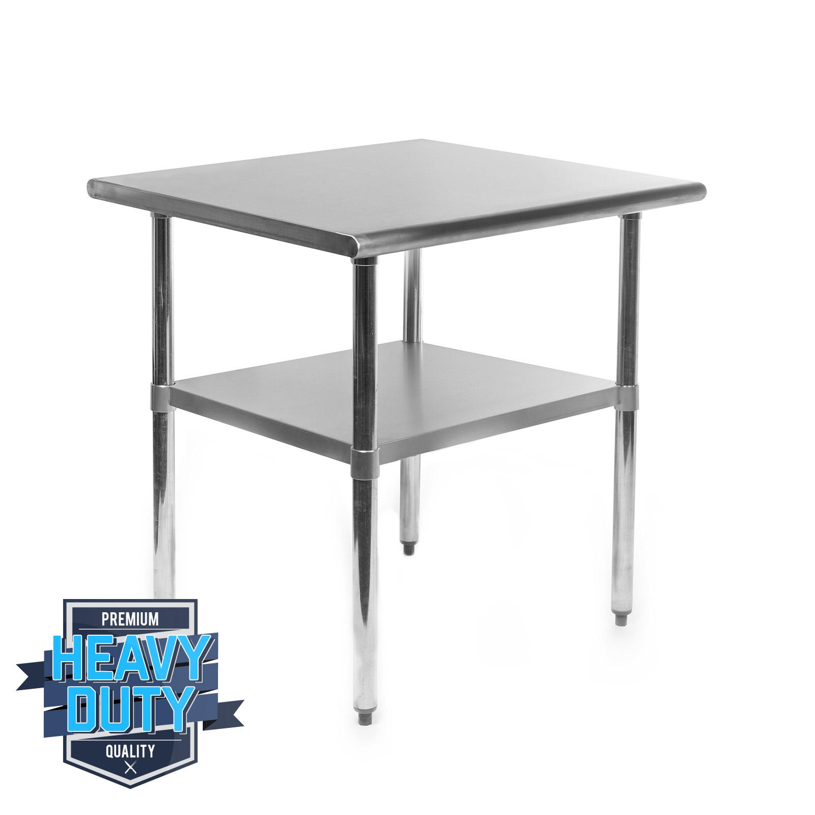 stainless steel commercial kitchen work food prep table 24 x 30 ebay. Black Bedroom Furniture Sets. Home Design Ideas