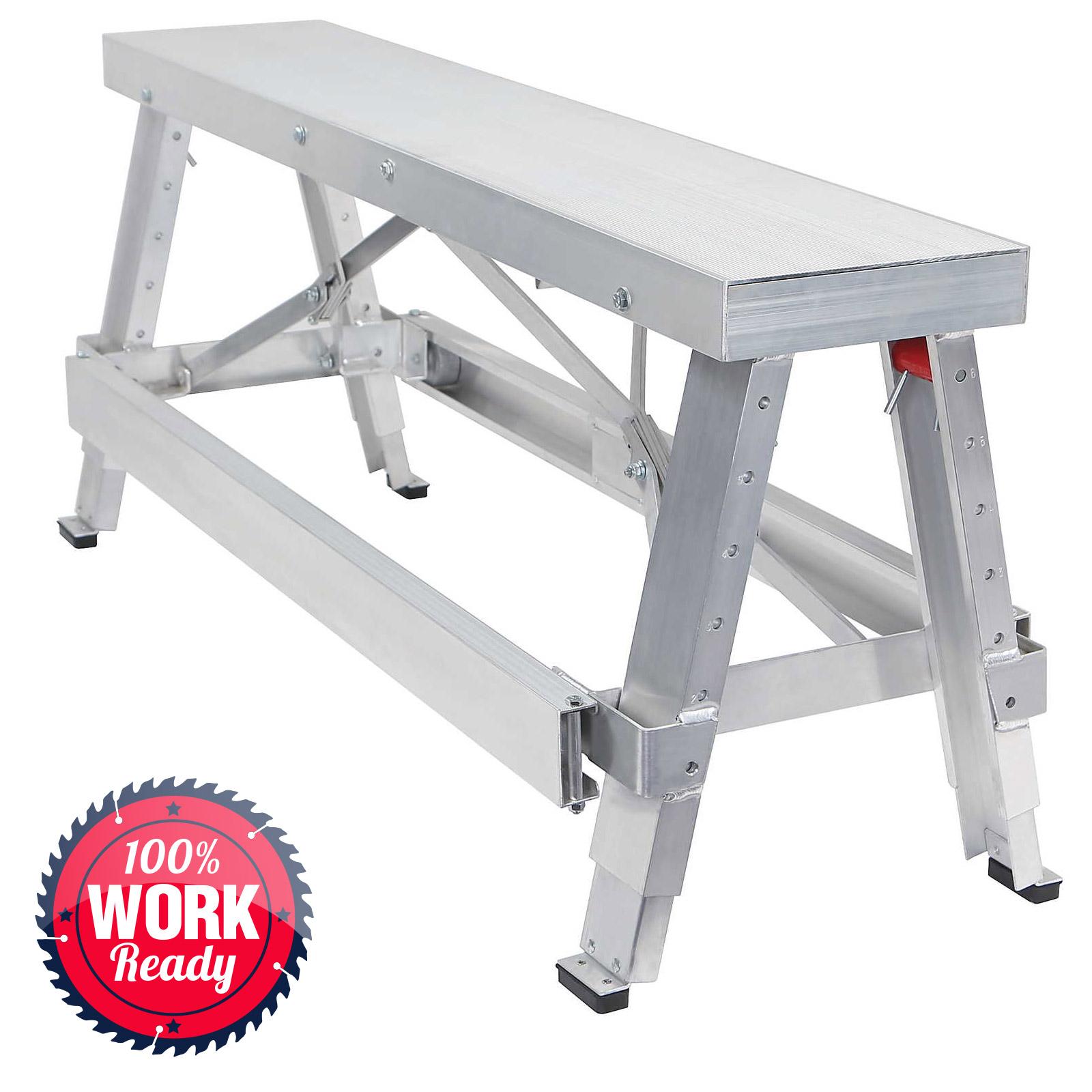 Drywall Bench Sawhorse Step Ladder Adjustable Height