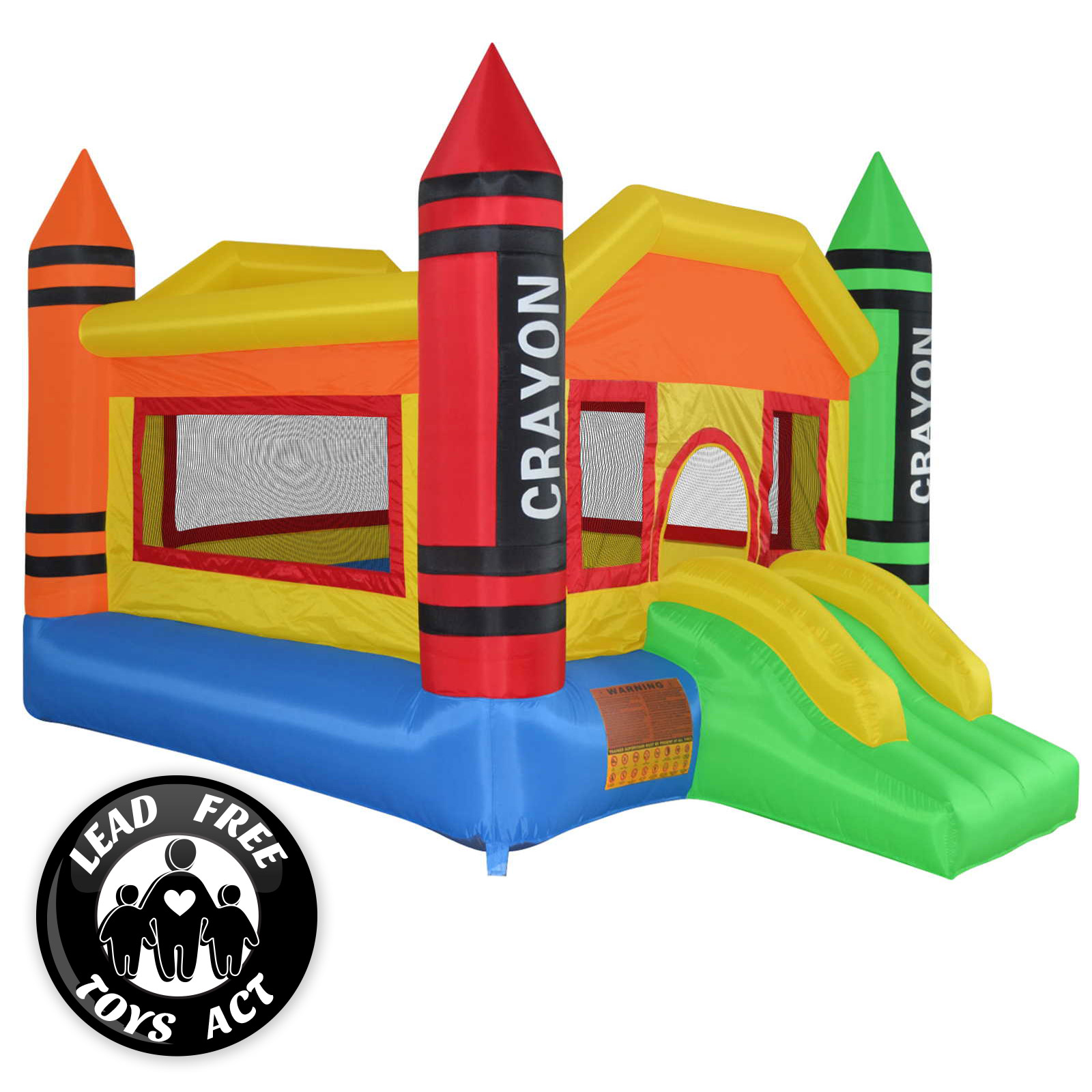 mighty bounce house mini crayon inflatable kids jumper with