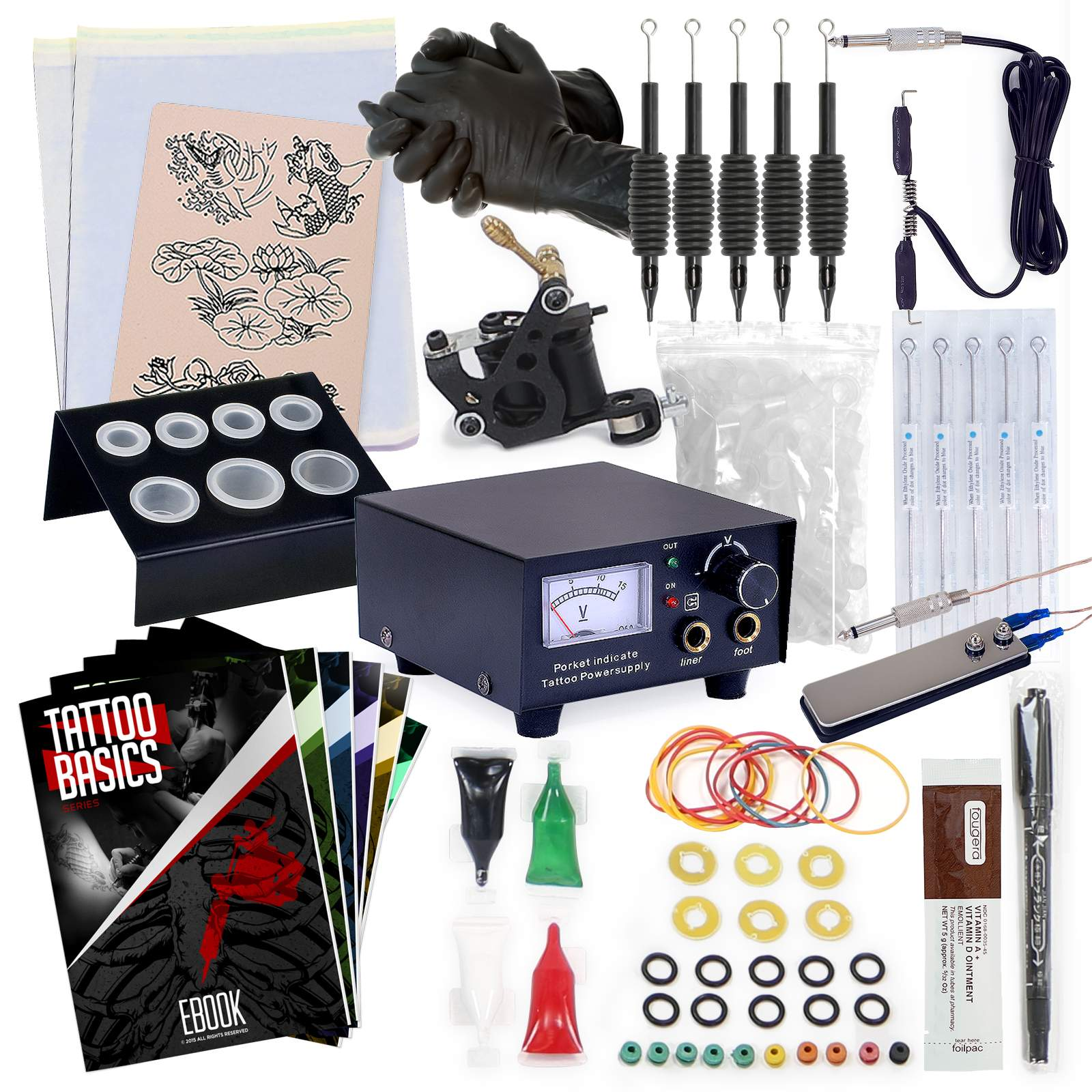 Starter Tattoo Machine Kit - Equipment Set 702082699157 | eBay