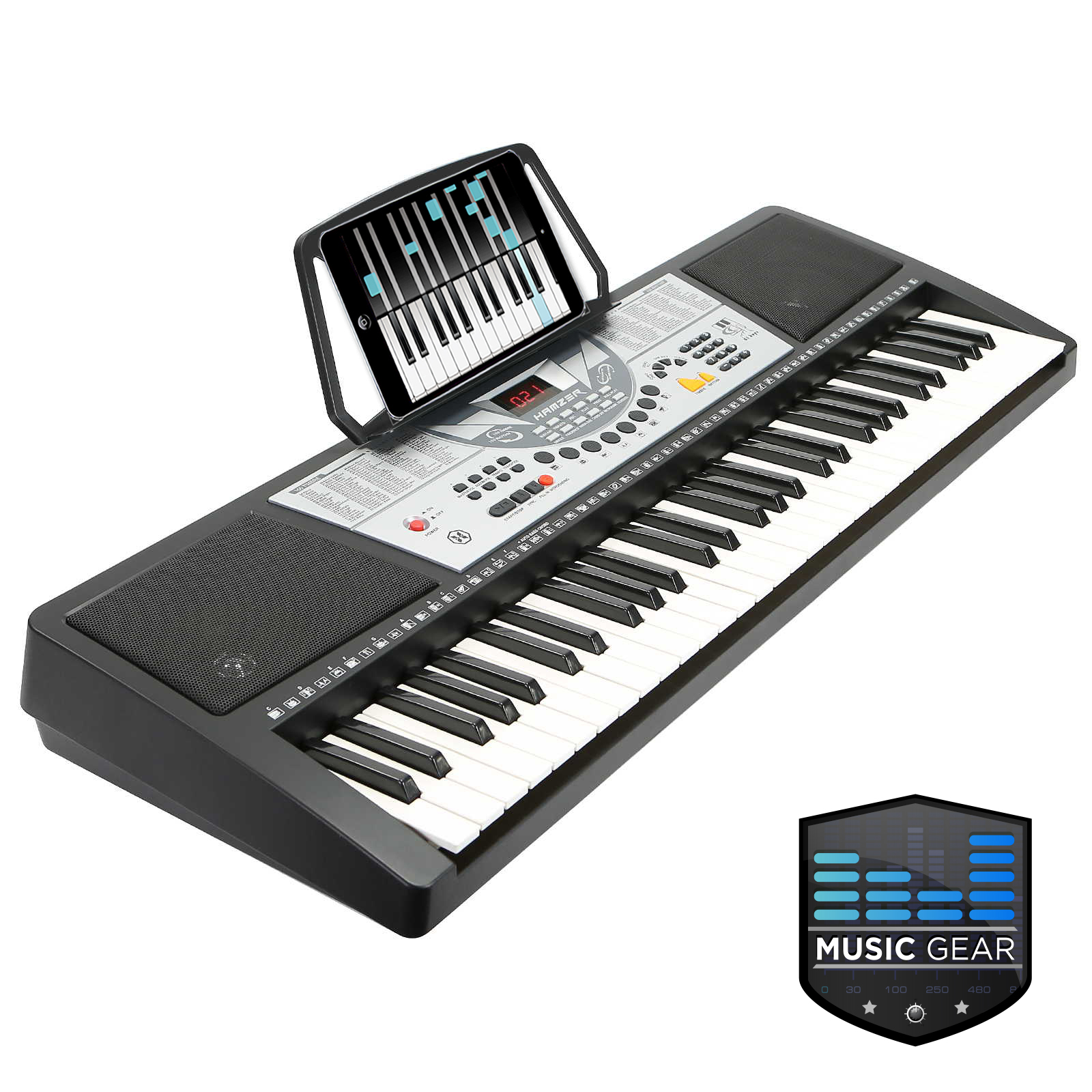 61 key electronic music electric keyboard piano organ keyboard black ebay. Black Bedroom Furniture Sets. Home Design Ideas