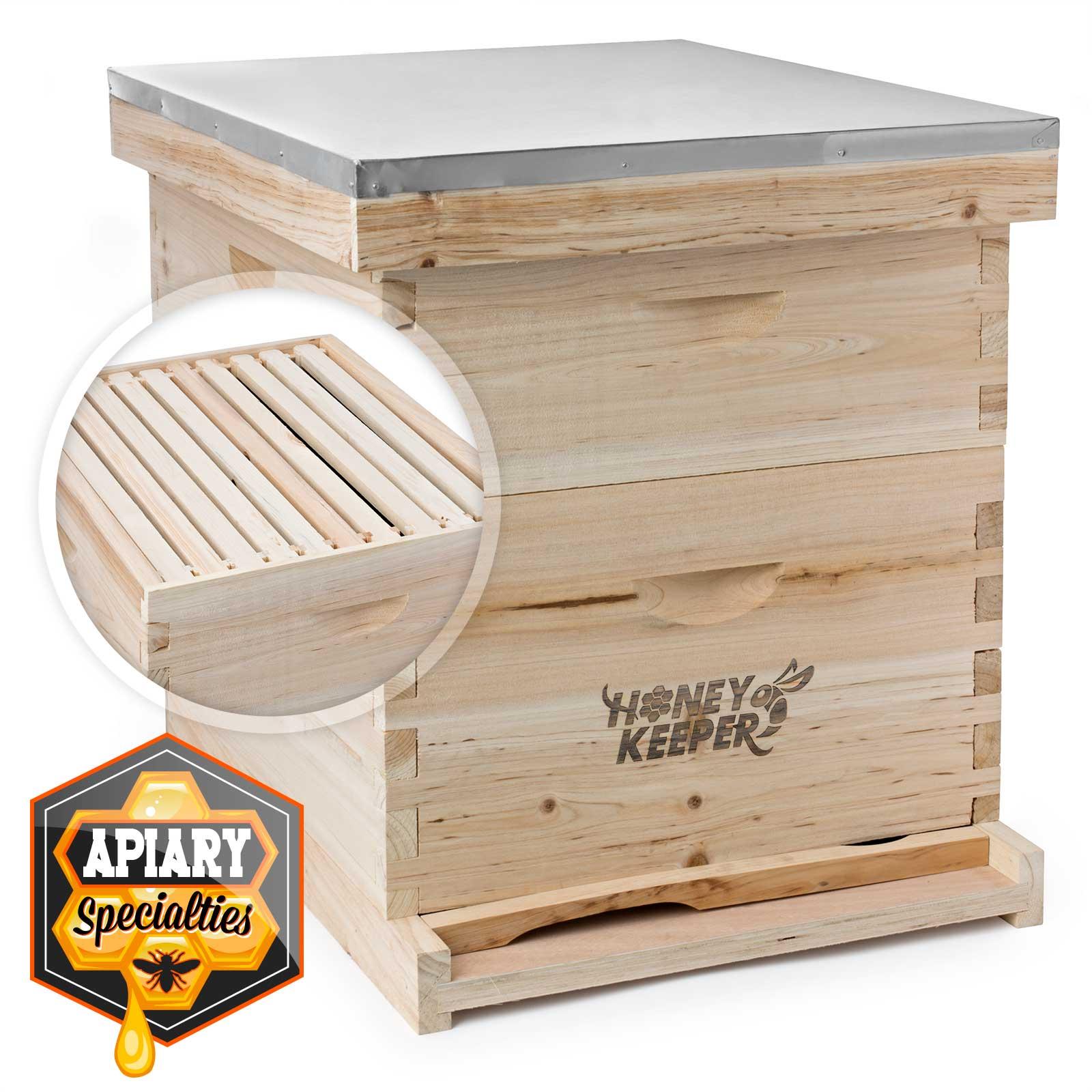 Langstroth Beekeeping 10 Deep-10 Medium Beehive 20 Frame Complete Box Kit