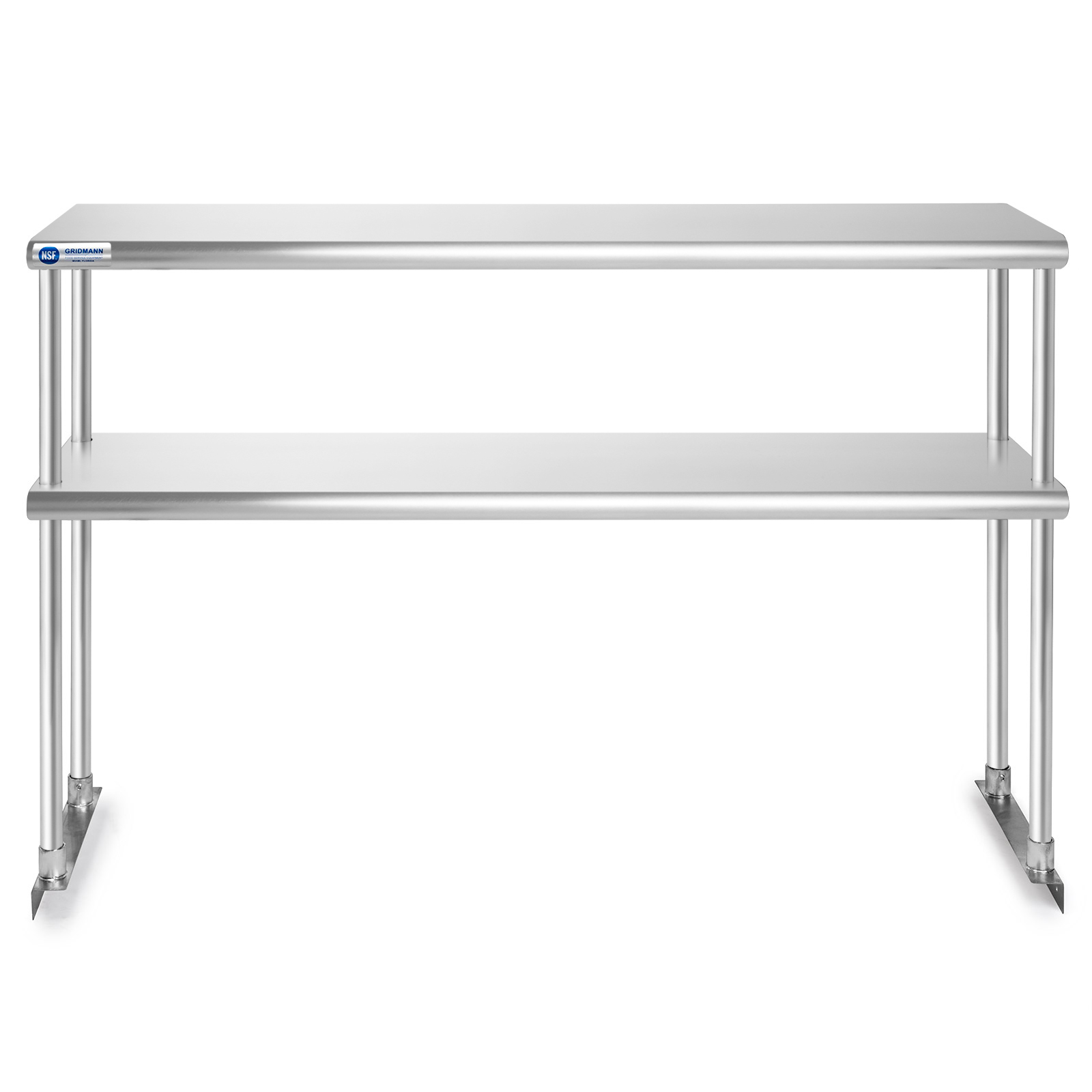 Industrial Kitchen Prep Table: Stainless Steel Commercial Kitchen Prep Table With Double