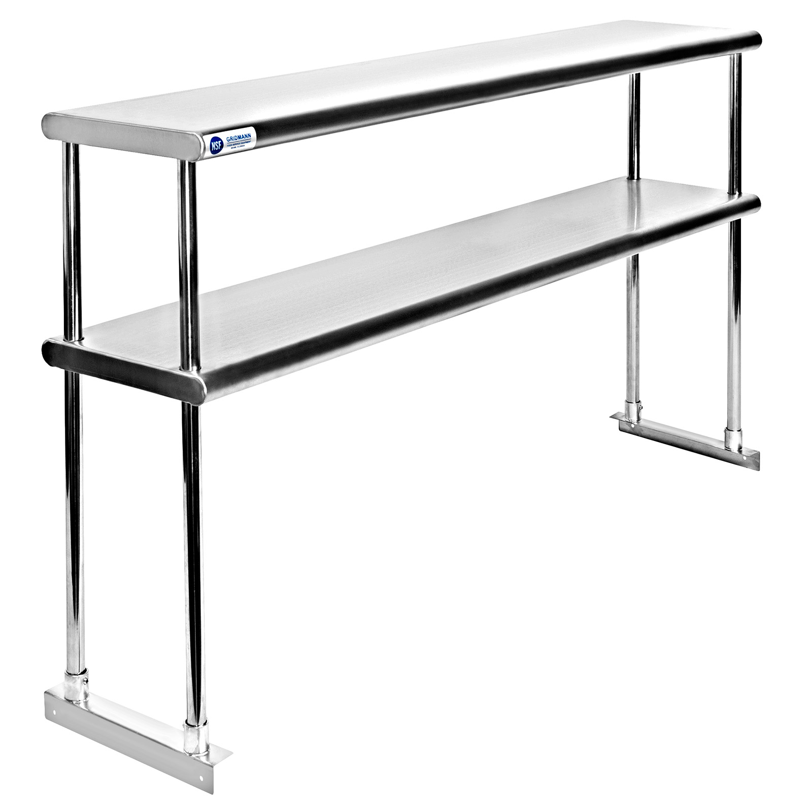 Industrial Kitchen Prep Table: Commercial Stainless Steel Kitchen Prep Table With Double