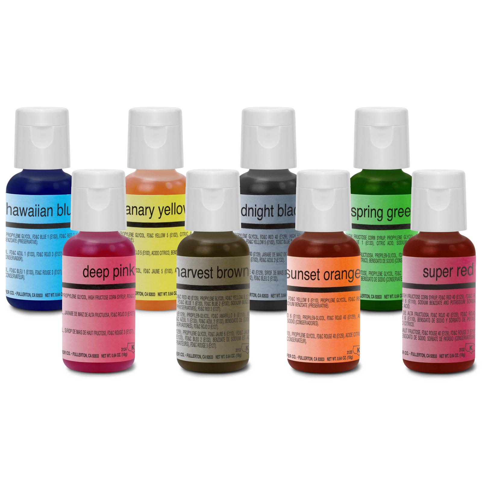 Chefmaster Food Coloring Cake Decorating Paint Set - 12 Colors - .64 ...