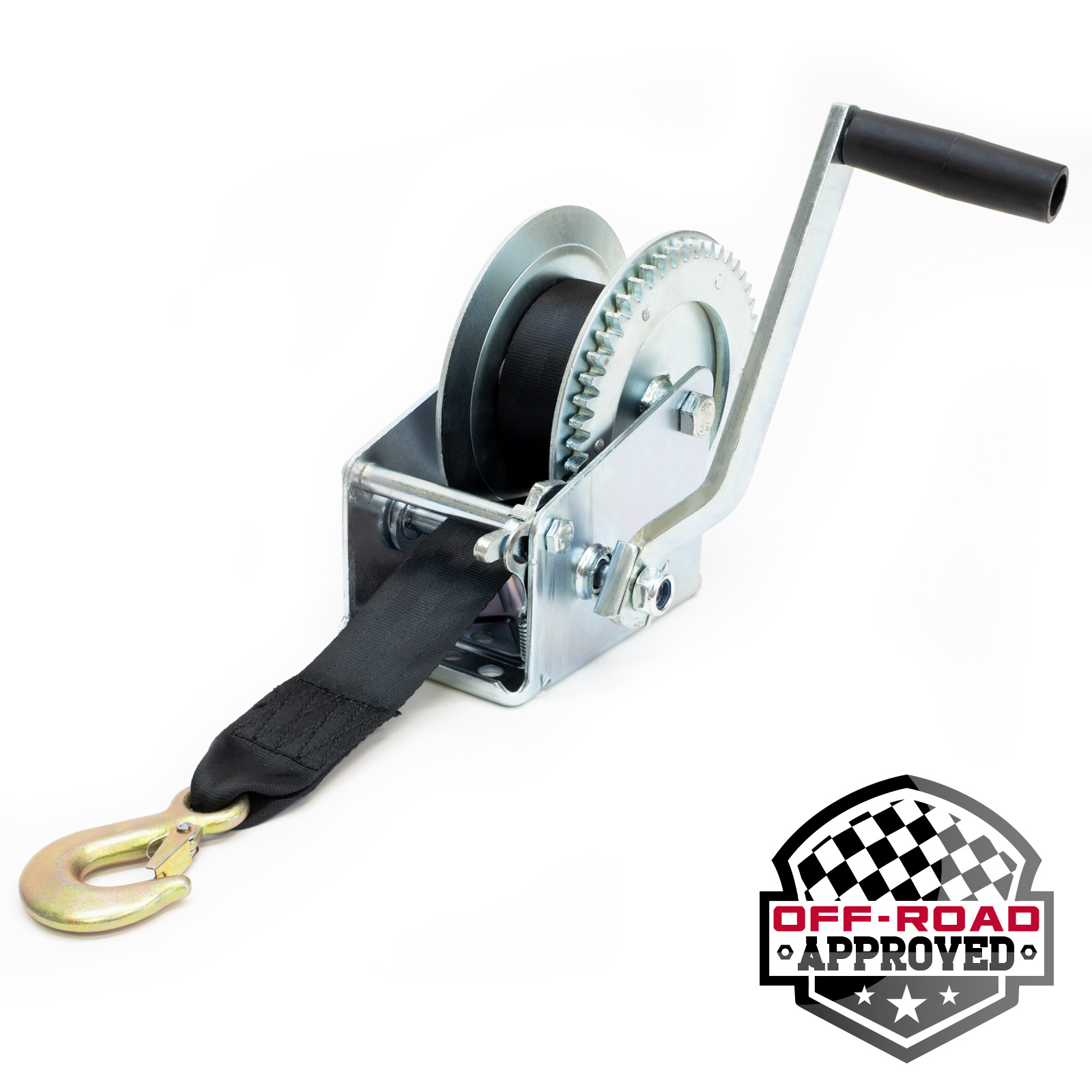 Details about Manual Trailer Winch with Hook and 20' Strap 1,500 lb Hand  Crank Boat Pull Tow