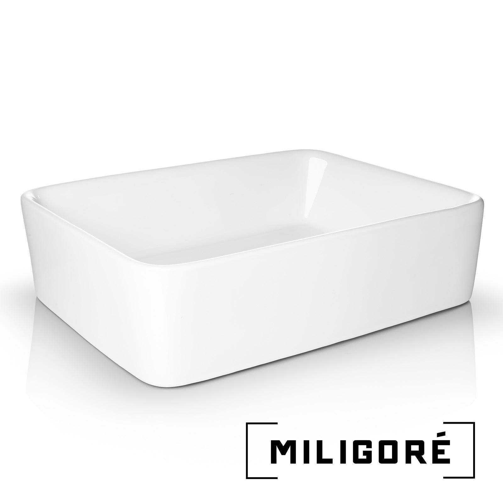 Open Box Modern Ceramic Vessel Sink Bathroom Vanity Bowl Rectangular White Ebay