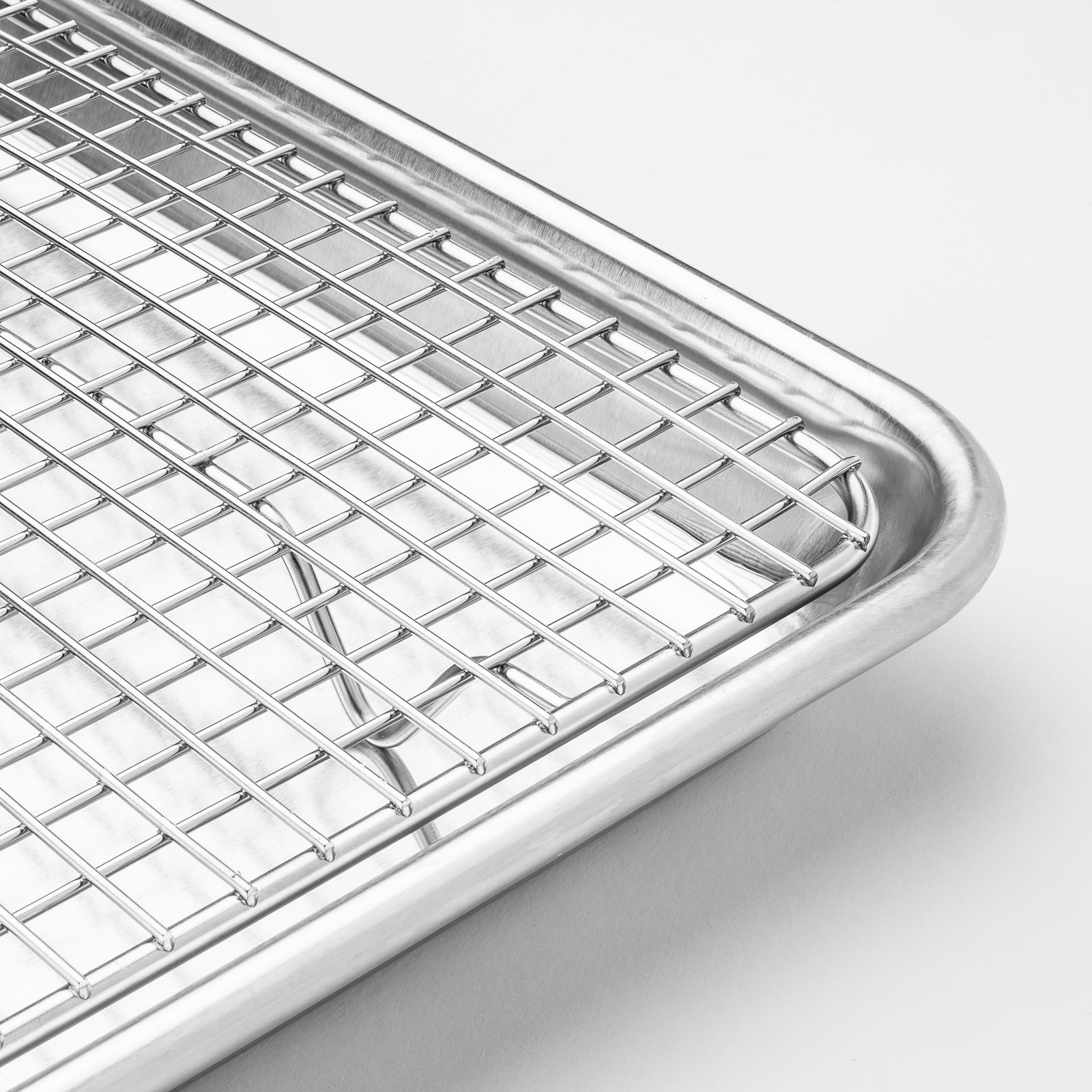 stainless steel baking cooling wire rack fits jelly roll cookie sheet oven pan ebay. Black Bedroom Furniture Sets. Home Design Ideas