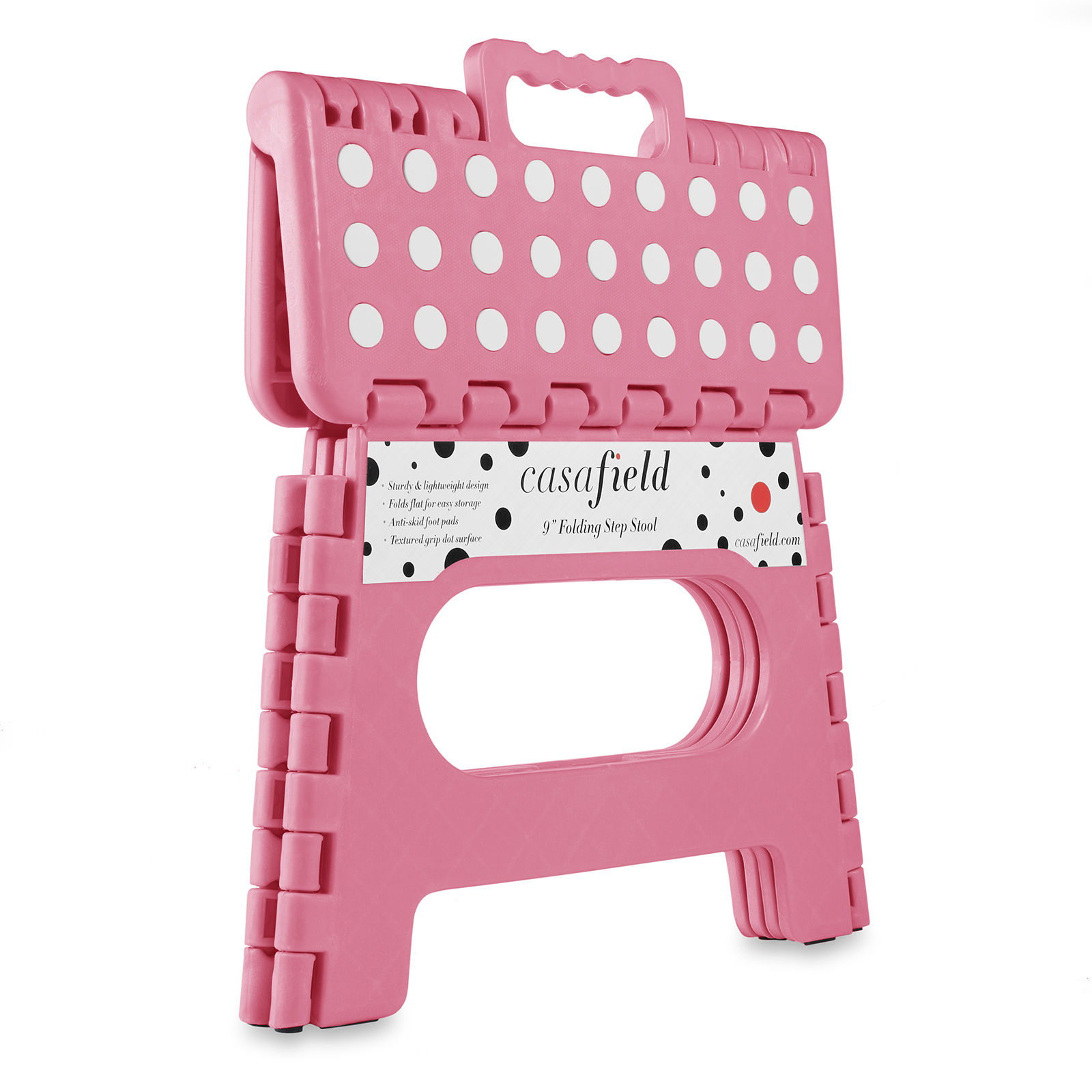 9 Collapsible Folding Plastic Kitchen Step Foot Stool W Handle Adults Kids Ebay