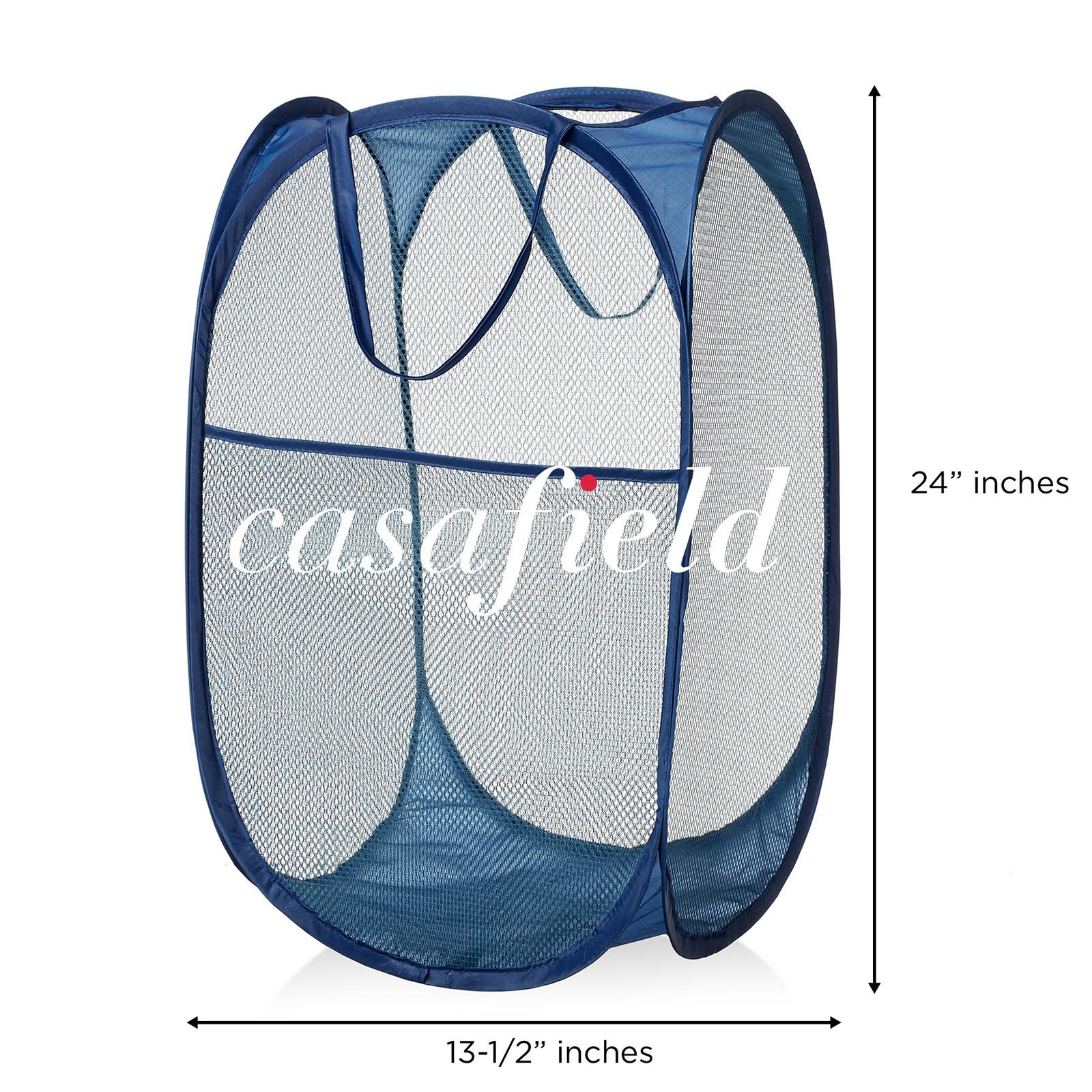 Collapsible Mesh Pop Up Laundry Clothes Hamper Basket