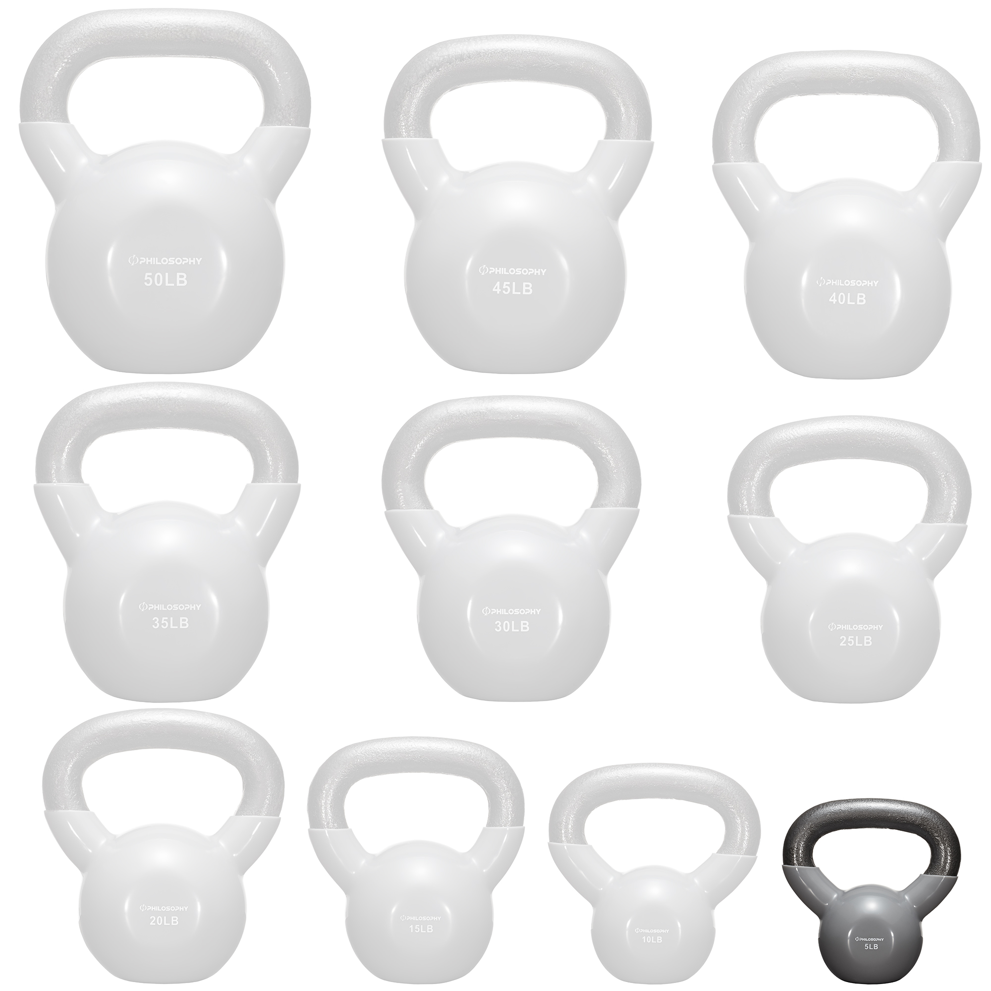thumbnail 94 - Vinyl Coated Cast Iron Kettlebell, 5 lbs to 50 Pound Weights