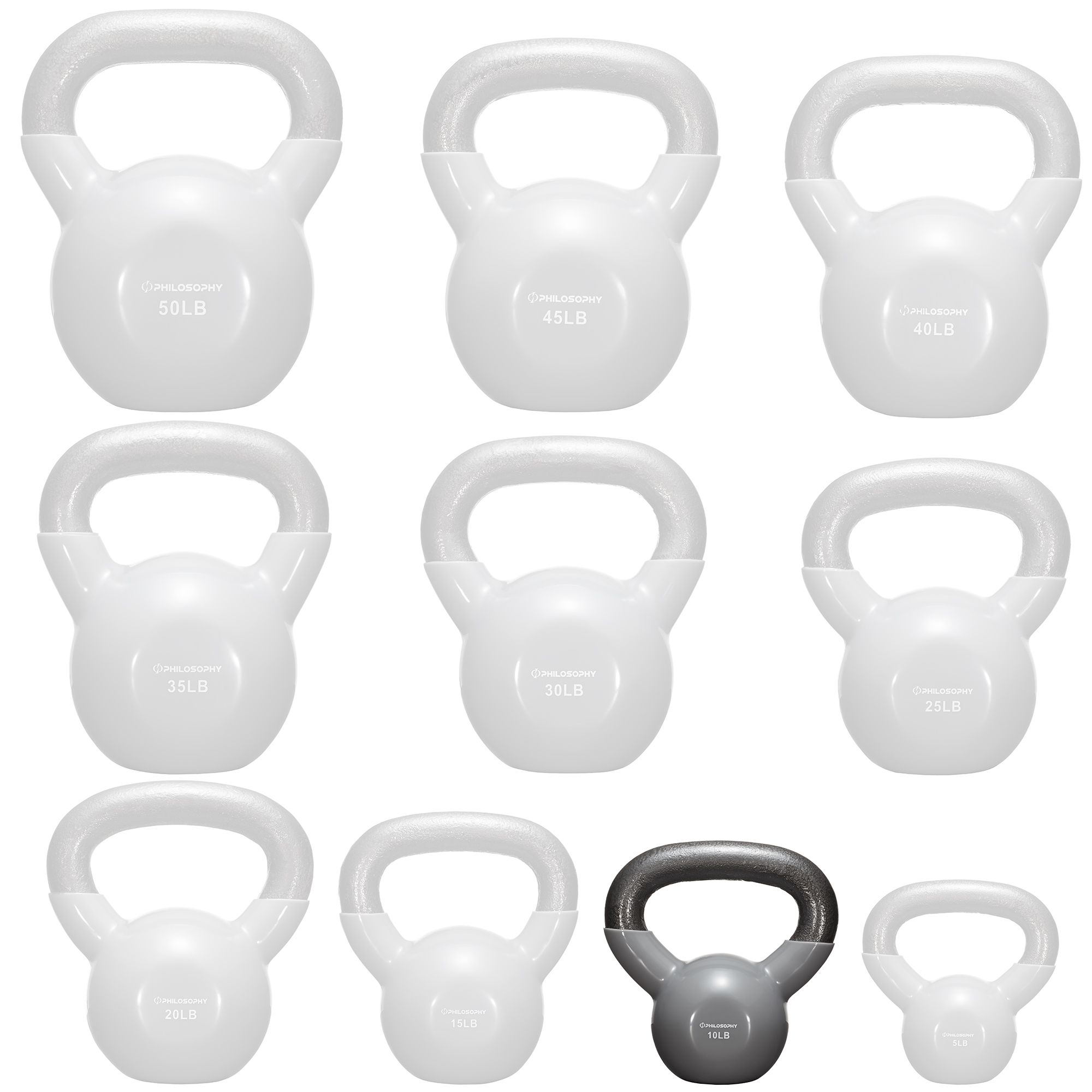 thumbnail 6 - Vinyl Coated Cast Iron Kettlebell, 5 lbs to 50 Pound Weights