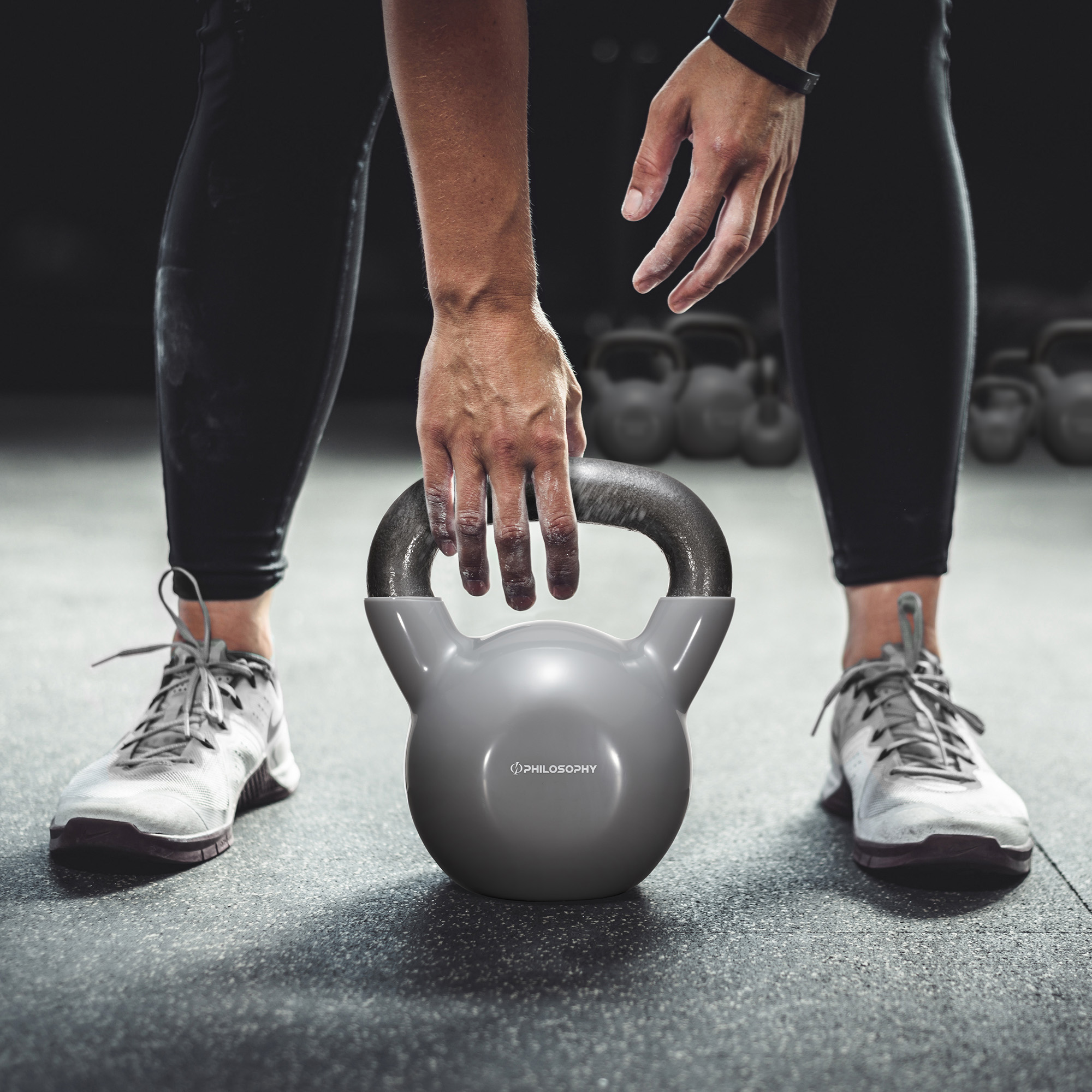 thumbnail 7 - Vinyl Coated Cast Iron Kettlebell, 5 lbs to 50 Pound Weights