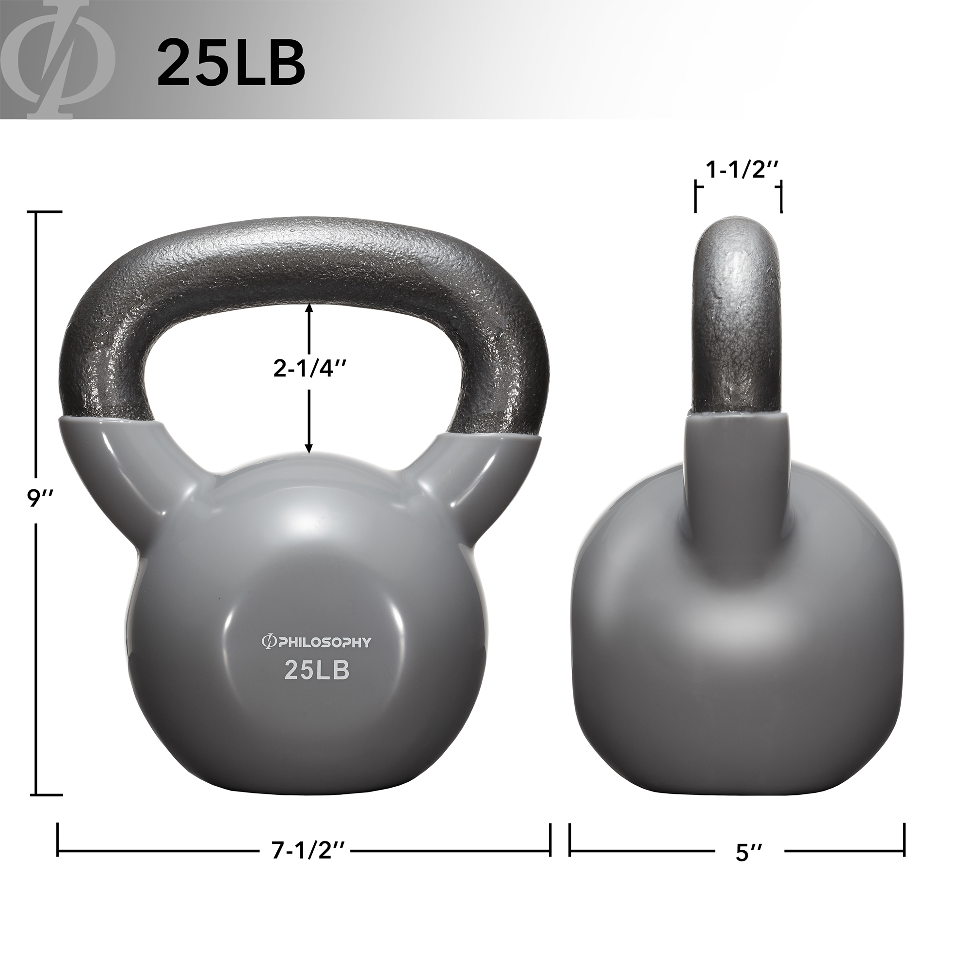 thumbnail 38 - Vinyl Coated Cast Iron Kettlebell, 5 lbs to 50 Pound Weights