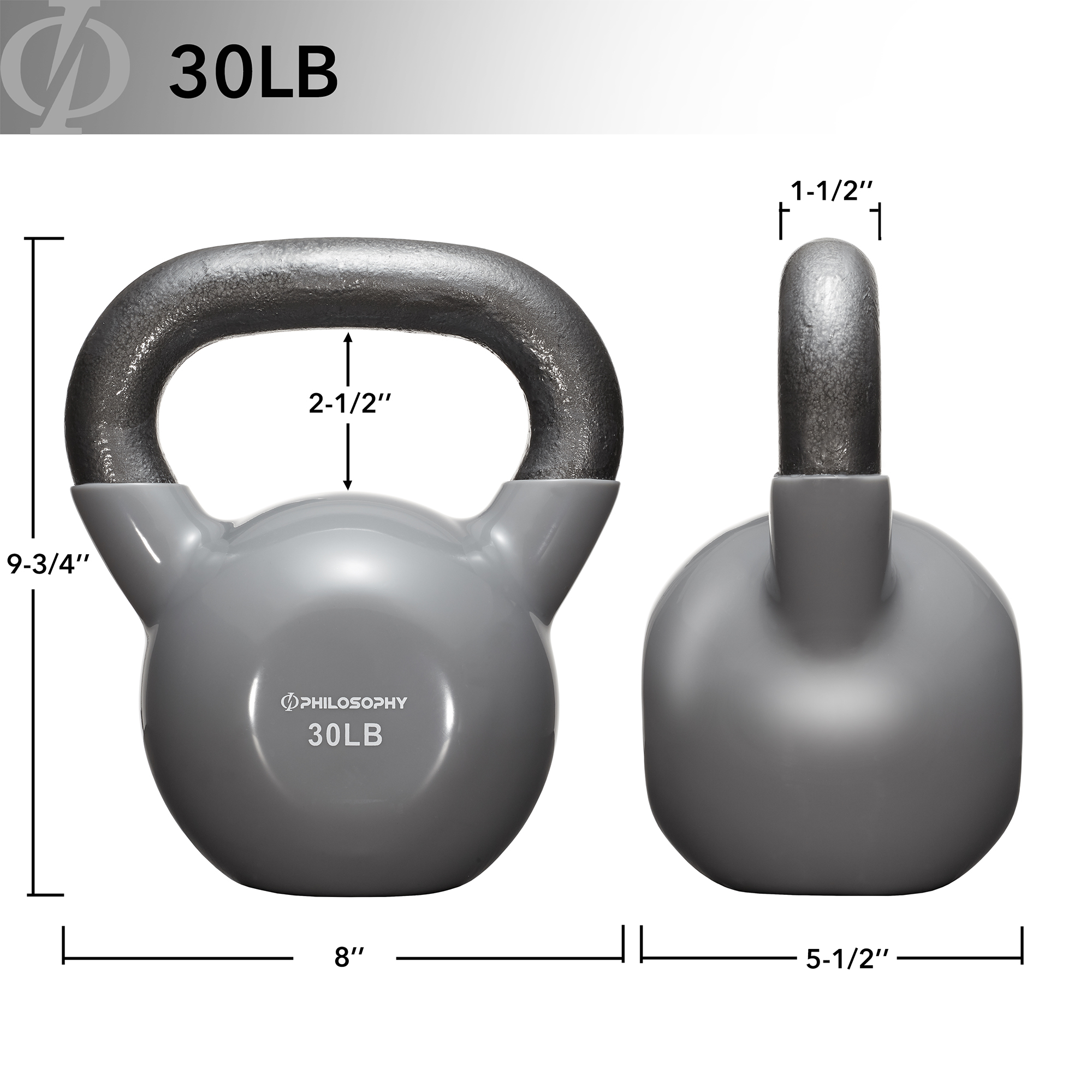 thumbnail 49 - Vinyl Coated Cast Iron Kettlebell, 5 lbs to 50 Pound Weights