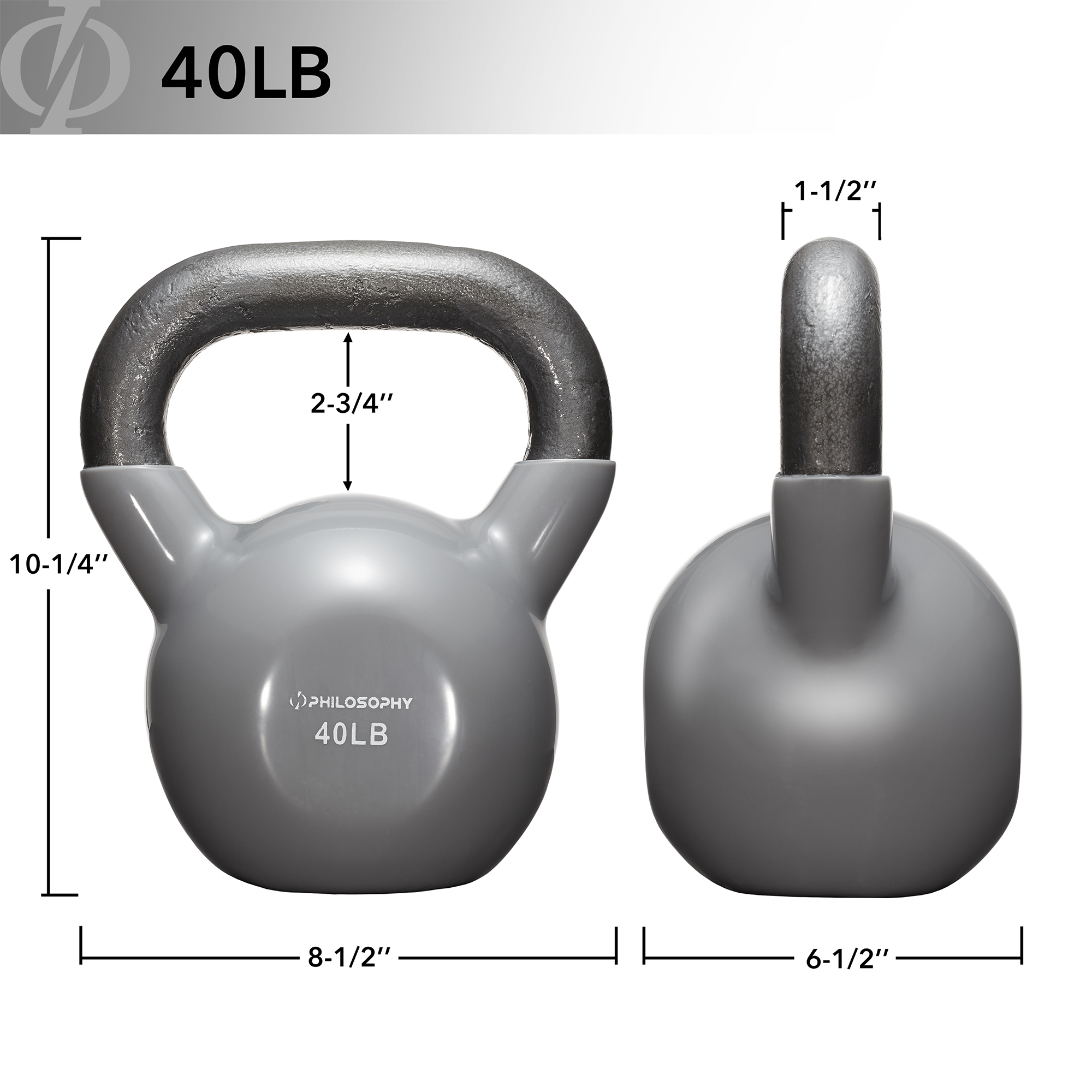thumbnail 71 - Vinyl Coated Cast Iron Kettlebell, 5 lbs to 50 Pound Weights