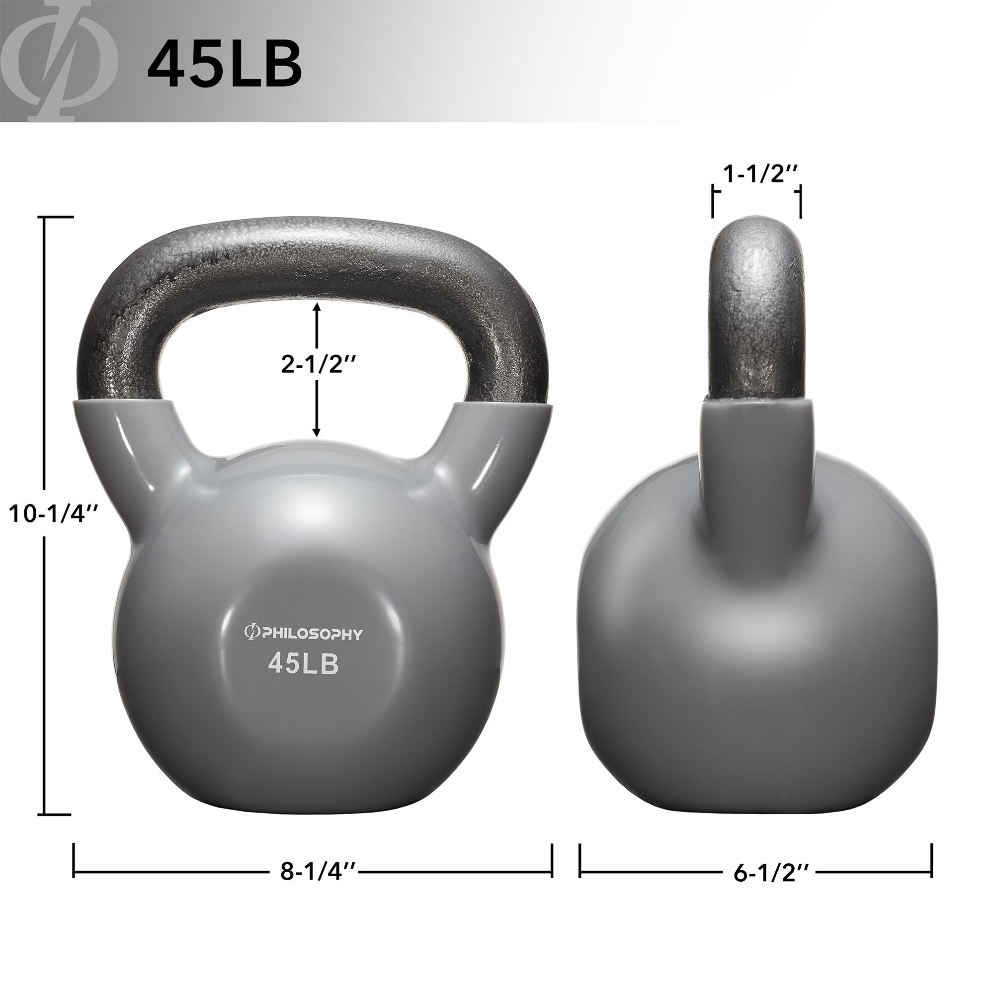 thumbnail 82 - Vinyl Coated Cast Iron Kettlebell, 5 lbs to 50 Pound Weights