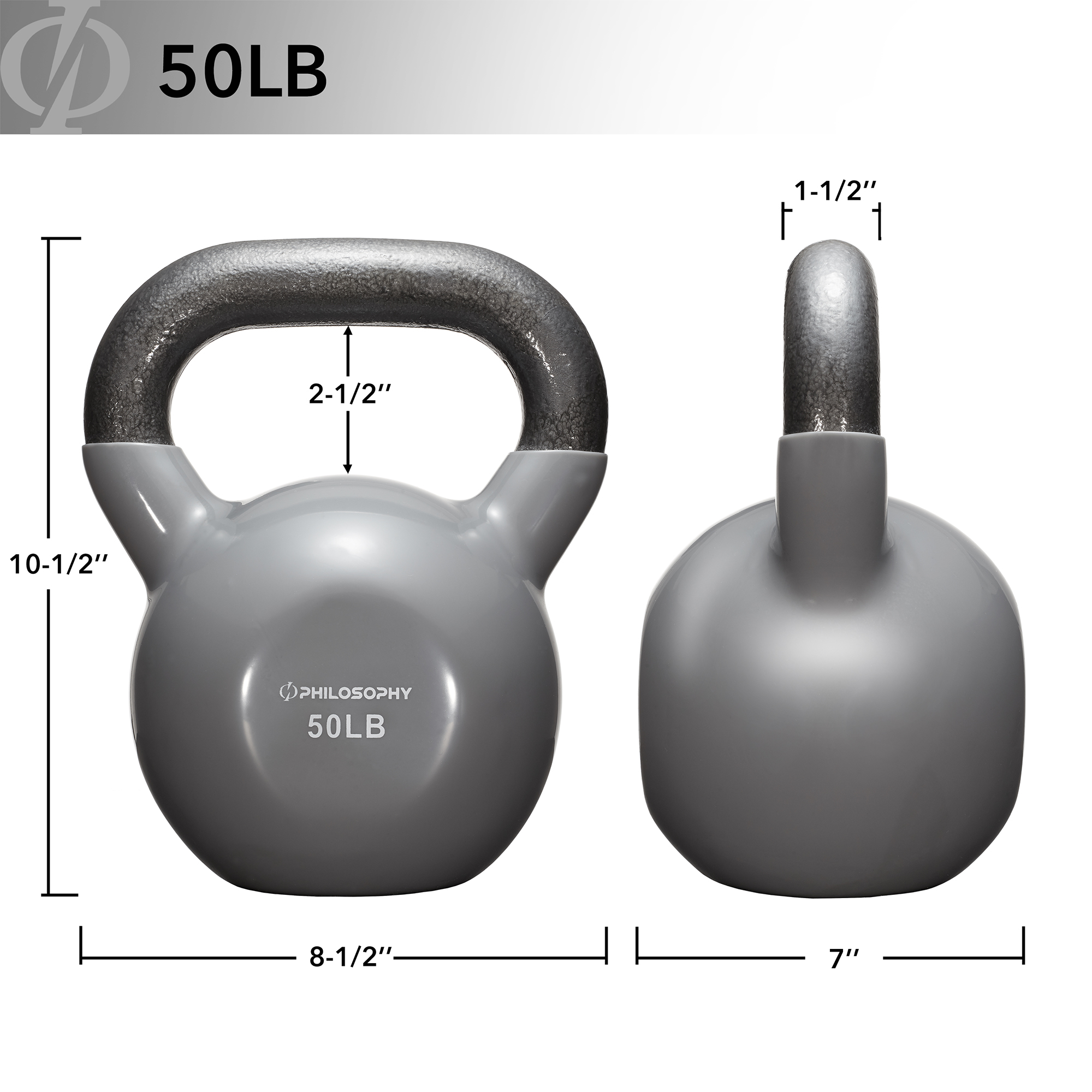 thumbnail 104 - Vinyl Coated Cast Iron Kettlebell, 5 lbs to 50 Pound Weights