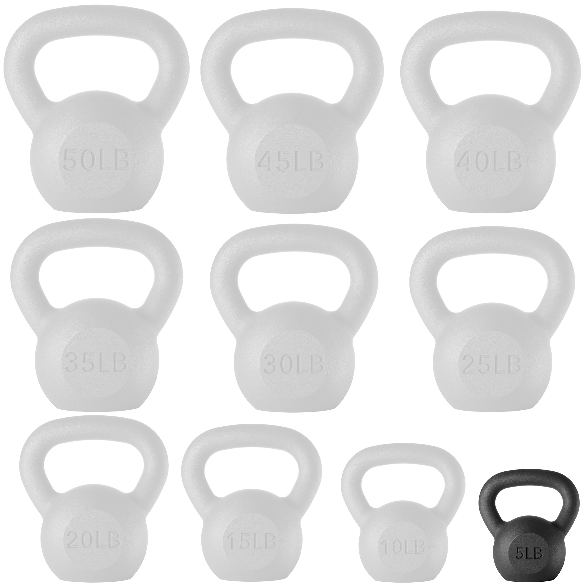 thumbnail 63 - Cast Iron Kettlebell, 5 lb to 50 Pounds for Weight Lifting Workout