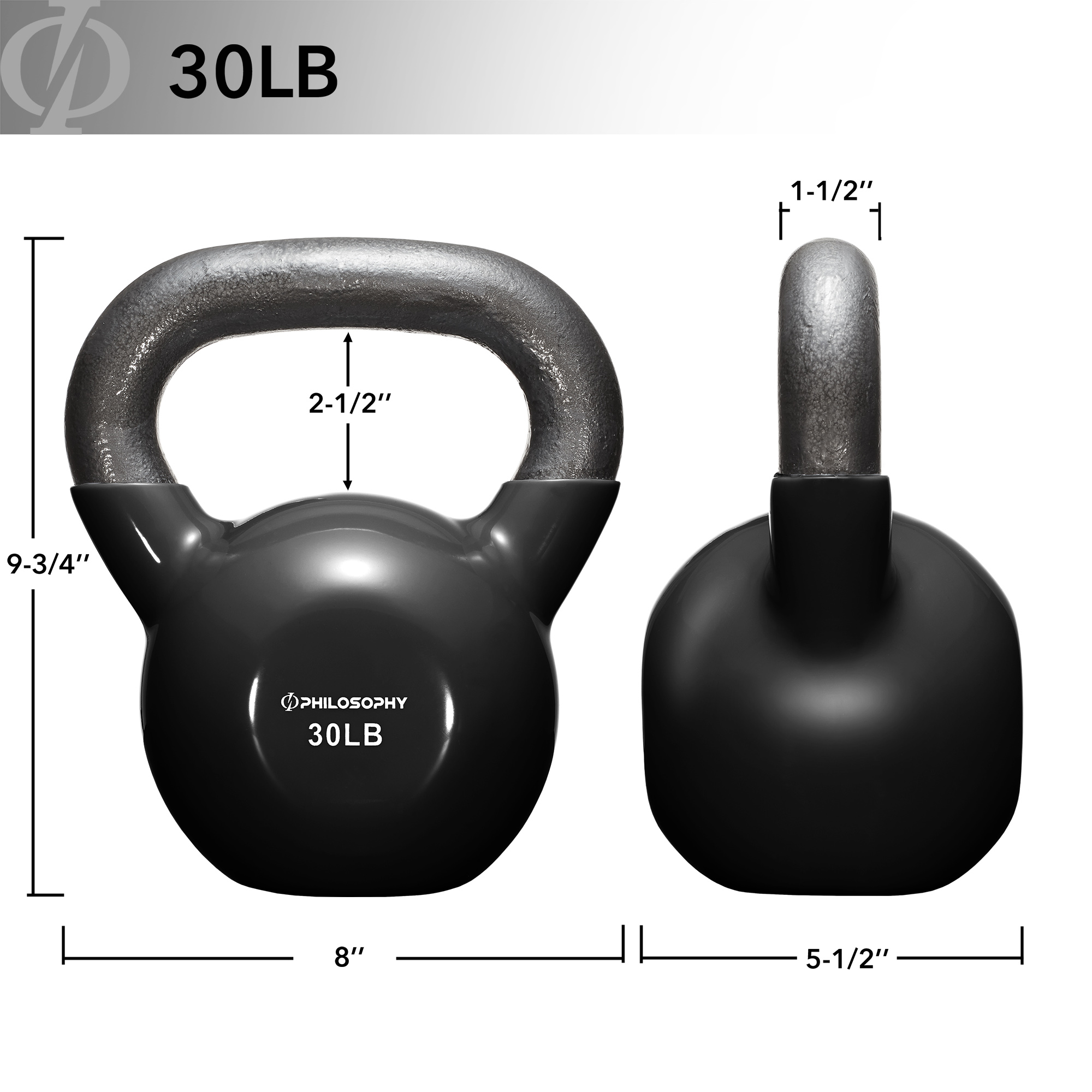 thumbnail 55 - Vinyl Coated Cast Iron Kettlebell, 5 lbs to 50 Pound Weights