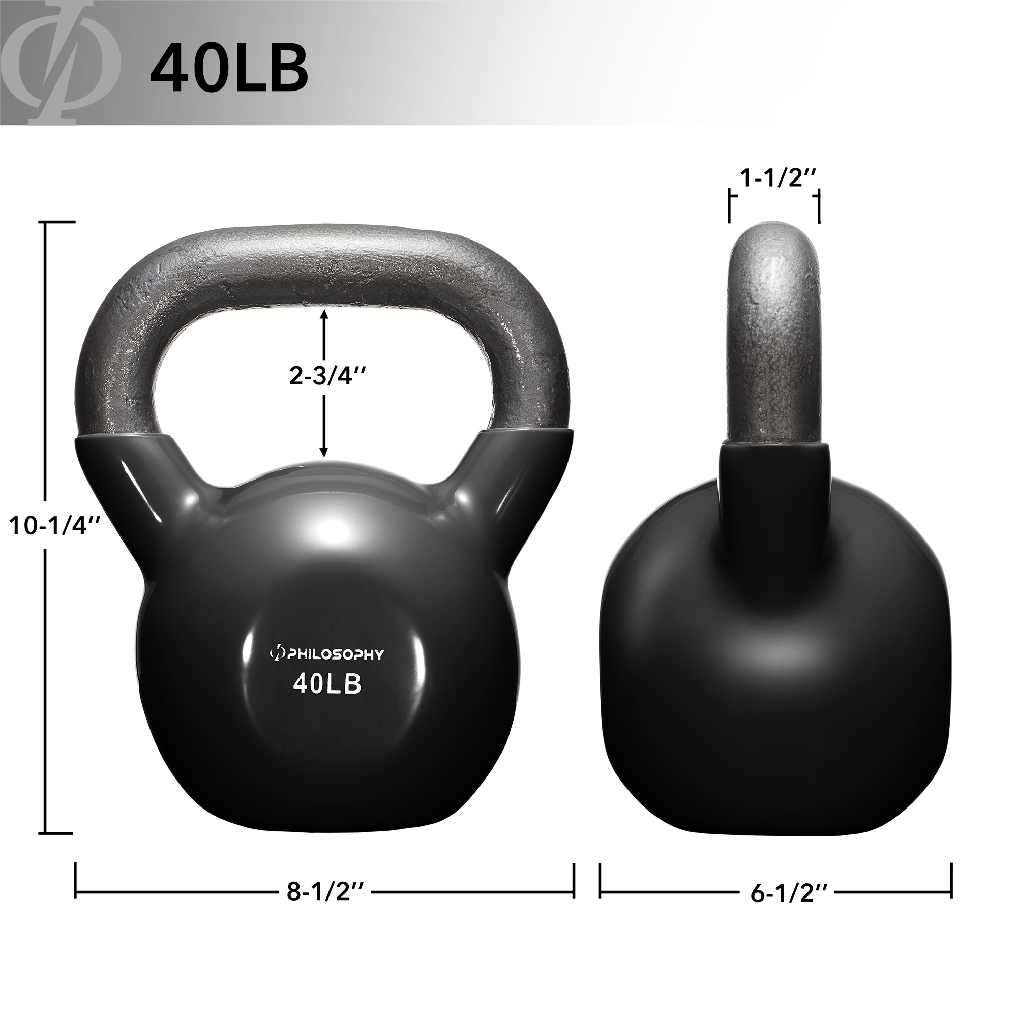 thumbnail 77 - Vinyl Coated Cast Iron Kettlebell, 5 lbs to 50 Pound Weights