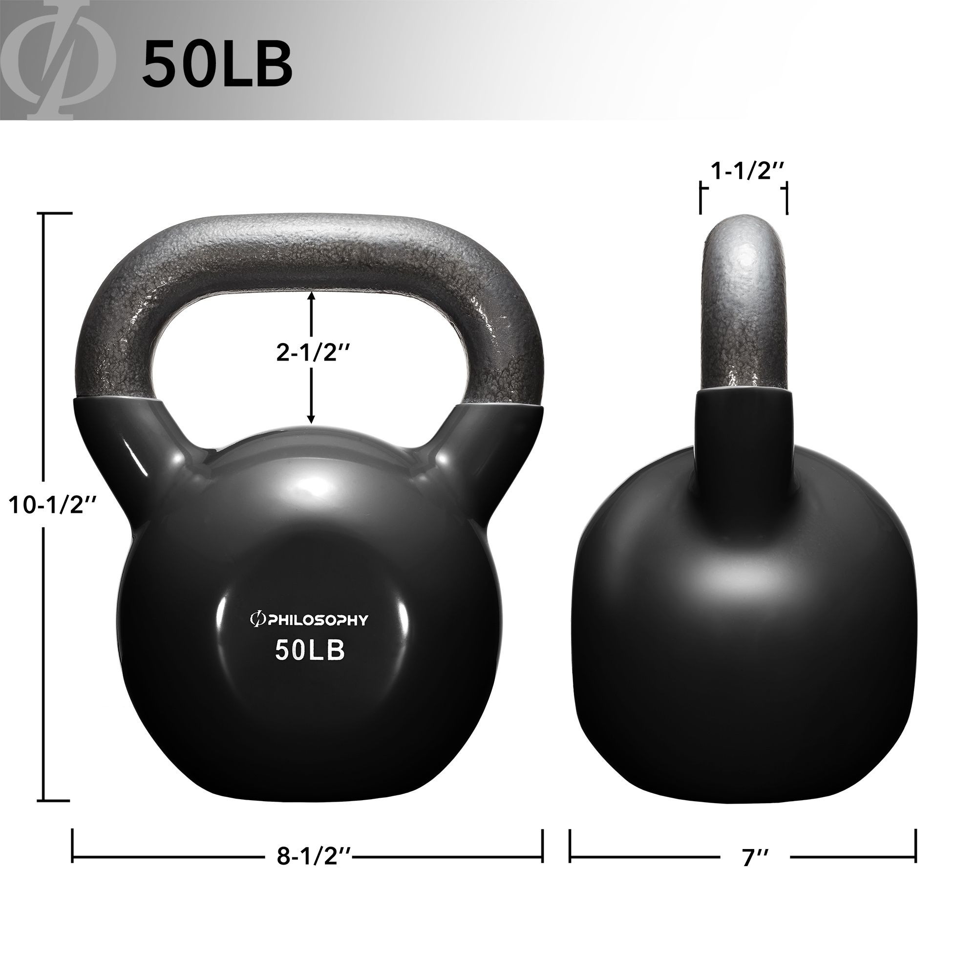 thumbnail 110 - Vinyl Coated Cast Iron Kettlebell, 5 lbs to 50 Pound Weights