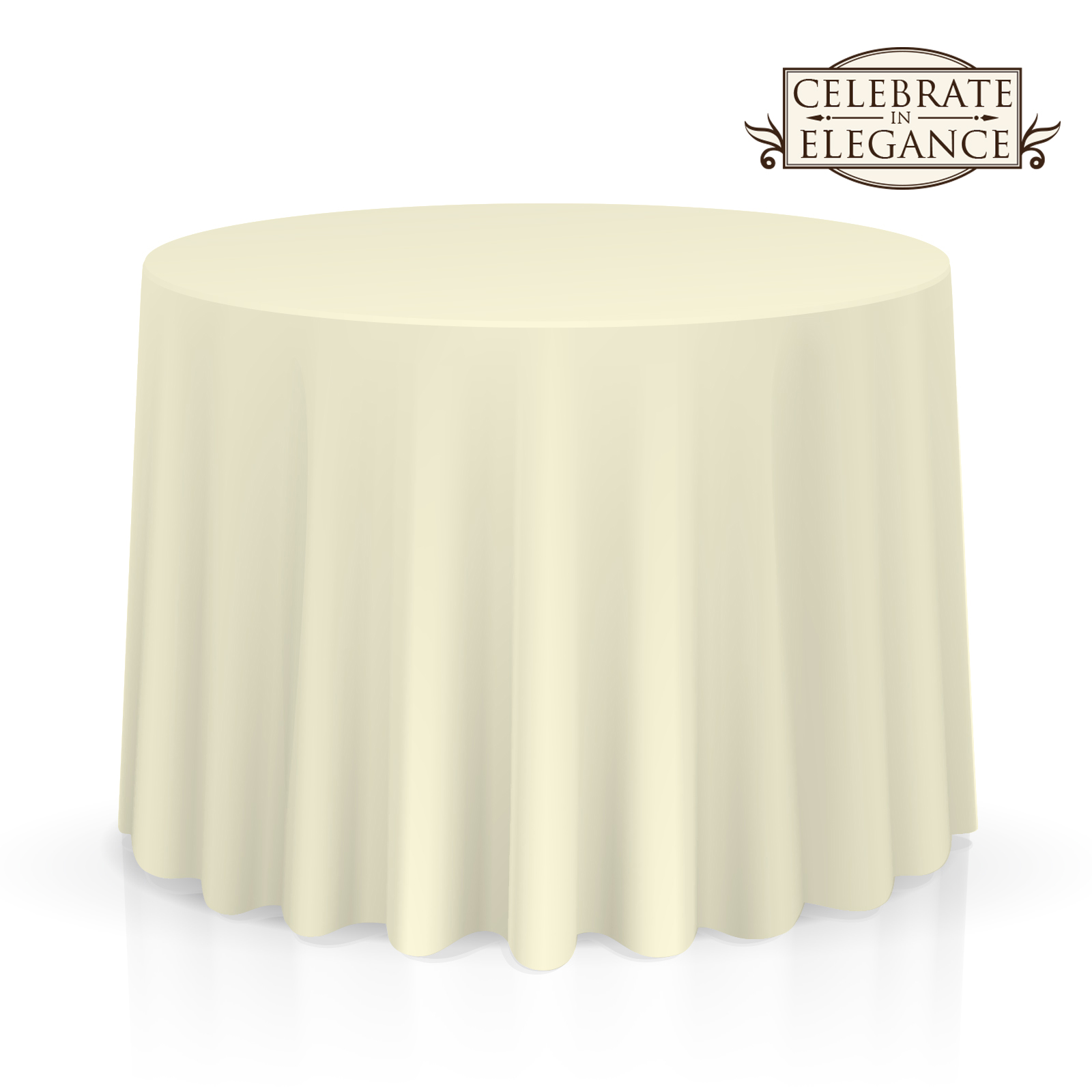 20 Pack Round Wedding Banquet Polyester Fabric Tablecloths